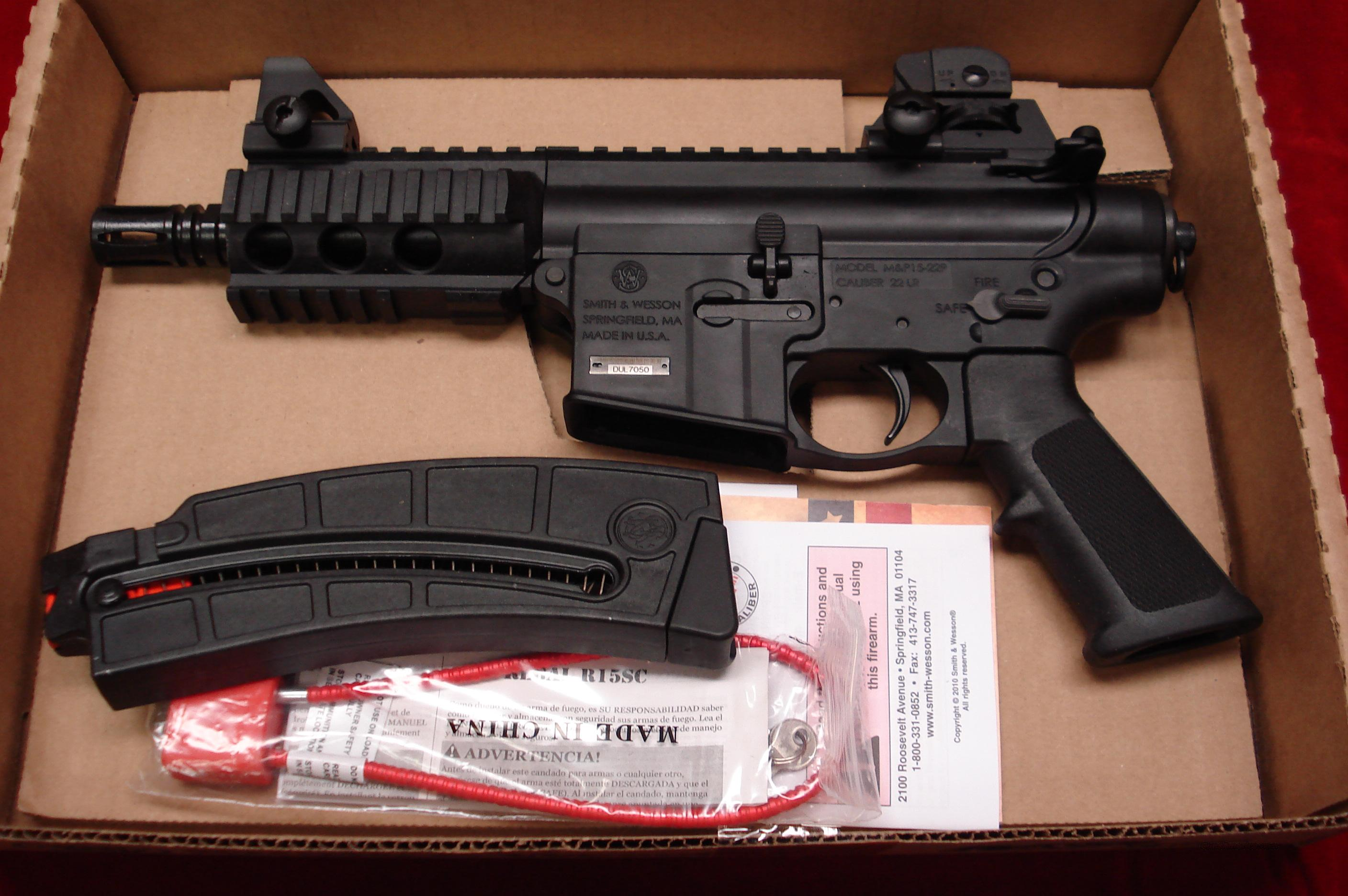 SMITH & WESSON M&P15-22 PISTOL NEW  Guns > Pistols > Smith & Wesson Pistols - Autos > .22 Autos