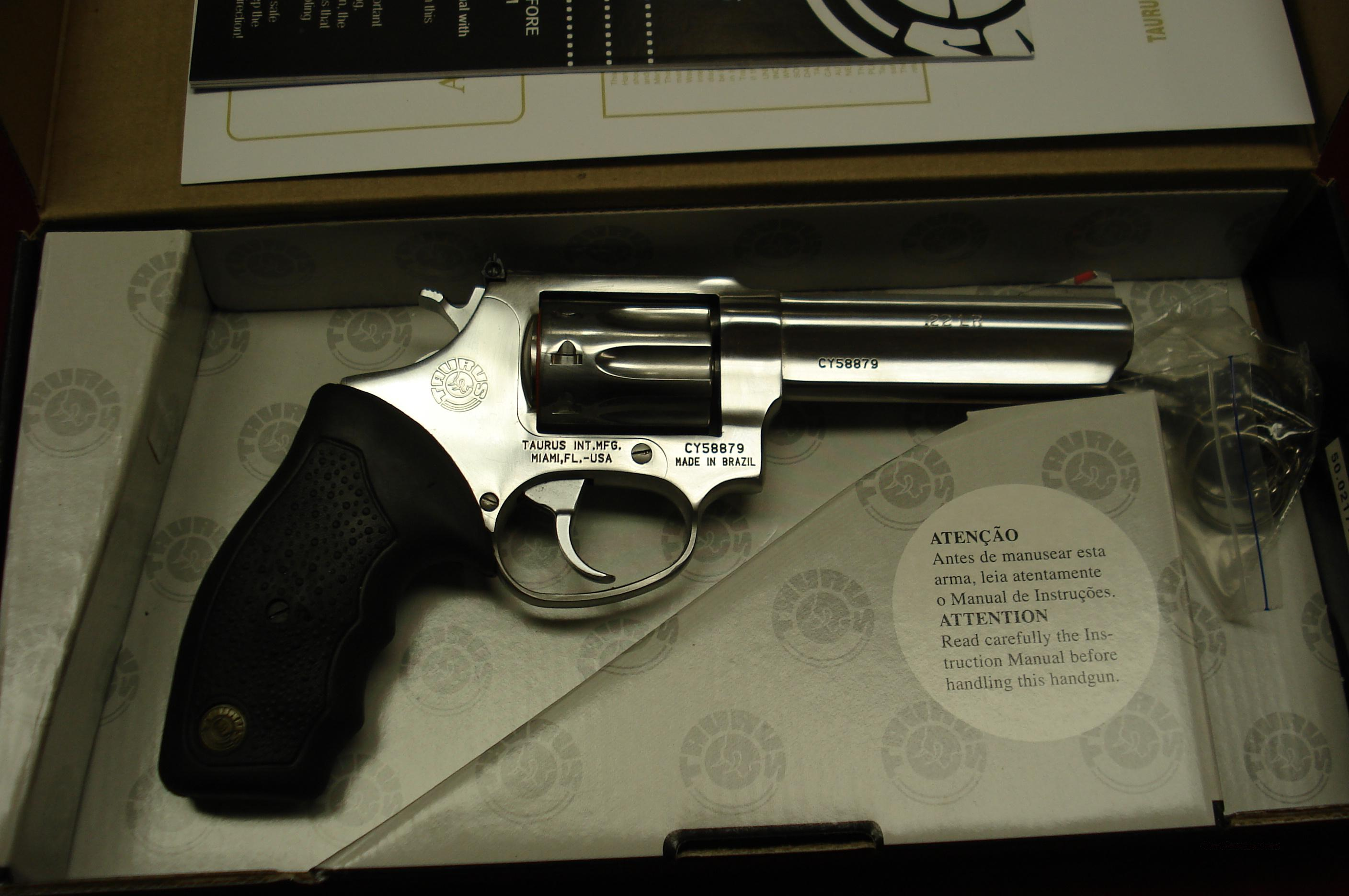 "TAURUS MODEL 94 POLISHED STAINLESS 4"" 22LR 9 SHOT NEW  Guns > Pistols > Taurus Pistols/Revolvers > Pistols > Steel Frame"