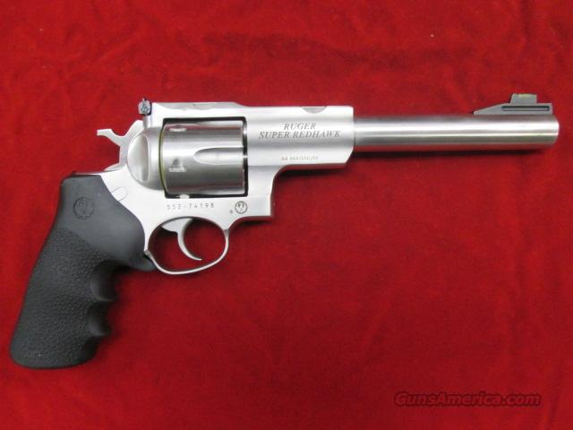 "RUGER SUPER REDHAWK HUNTER 44 MAG 7.5"" STAINLESS WITH RINGS NEW (KSRH-7G)  Guns > Pistols > Ruger Double Action Revolver > Redhawk Type"