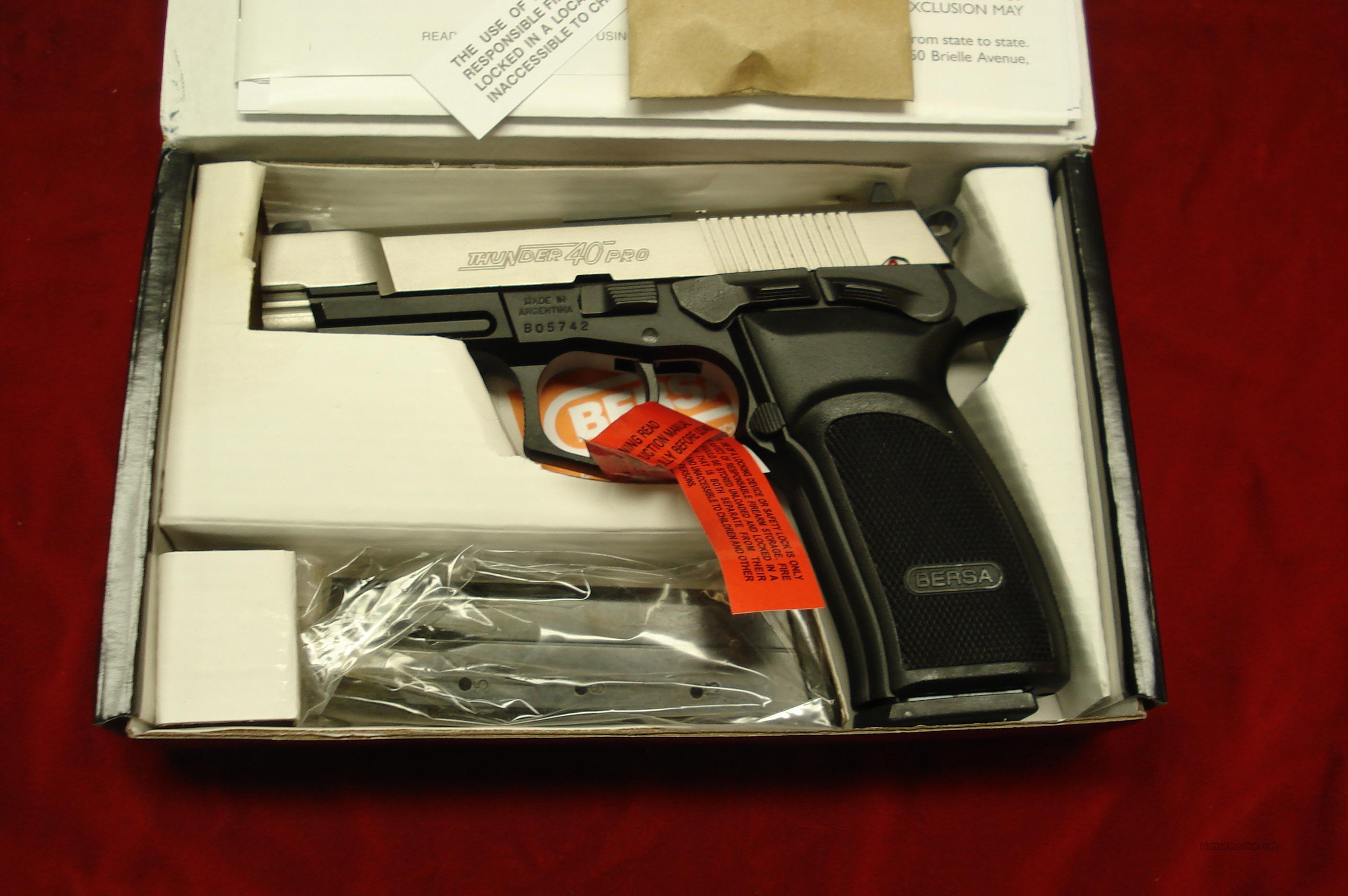 BERSA THUNDER 40 PRO DUO-TONE HIGH CAPACITY 40CAL. NEW   Guns > Pistols > Bersa Pistols
