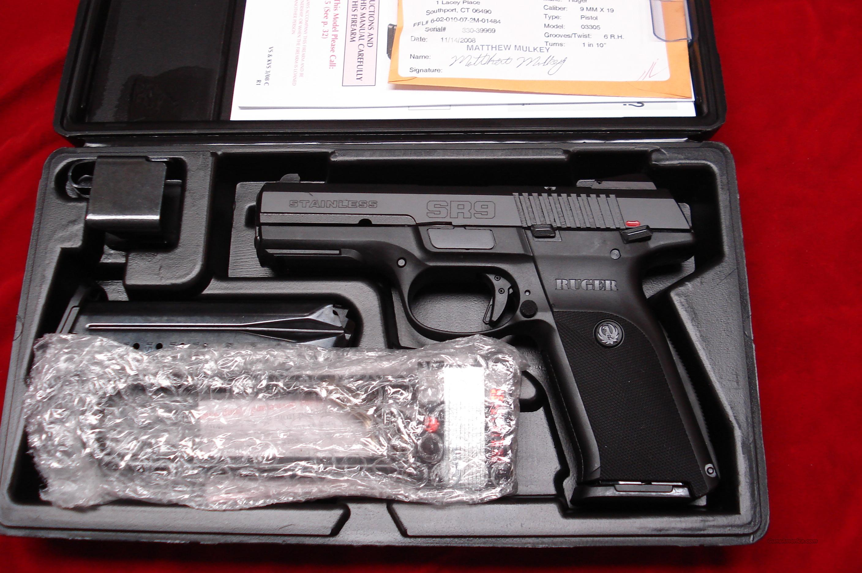 RUGER **NEW RELEASE** SR9 BLACKENED STAINLESS  NEW (IN STOCK)!  Guns > Pistols > Ruger Semi-Auto Pistols > SR9