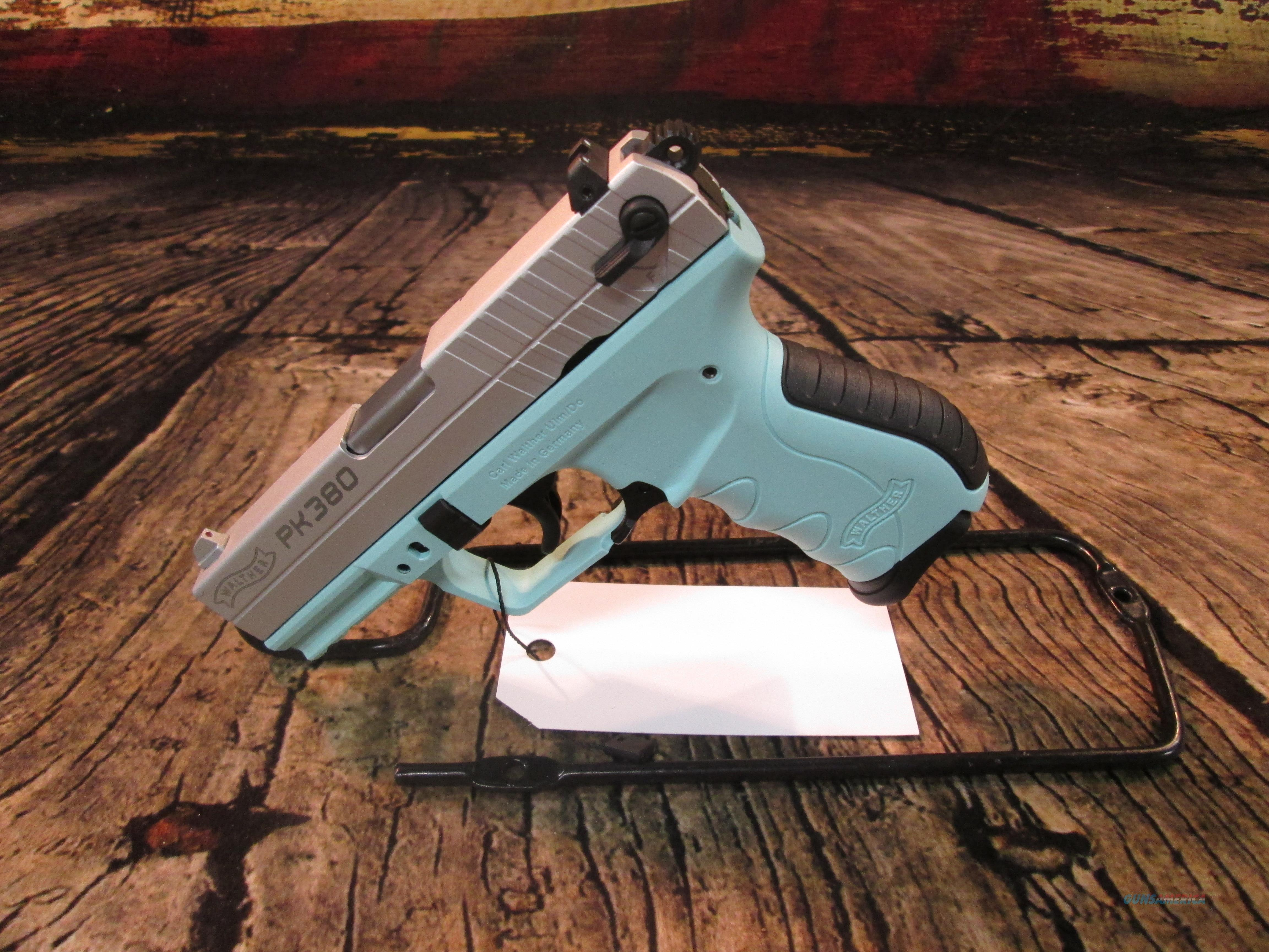 WALTHER PK380 ANGEL BLUE .380 ACP NEW (5050325)  Guns > Pistols > Walther Pistols > Post WWII > PK380