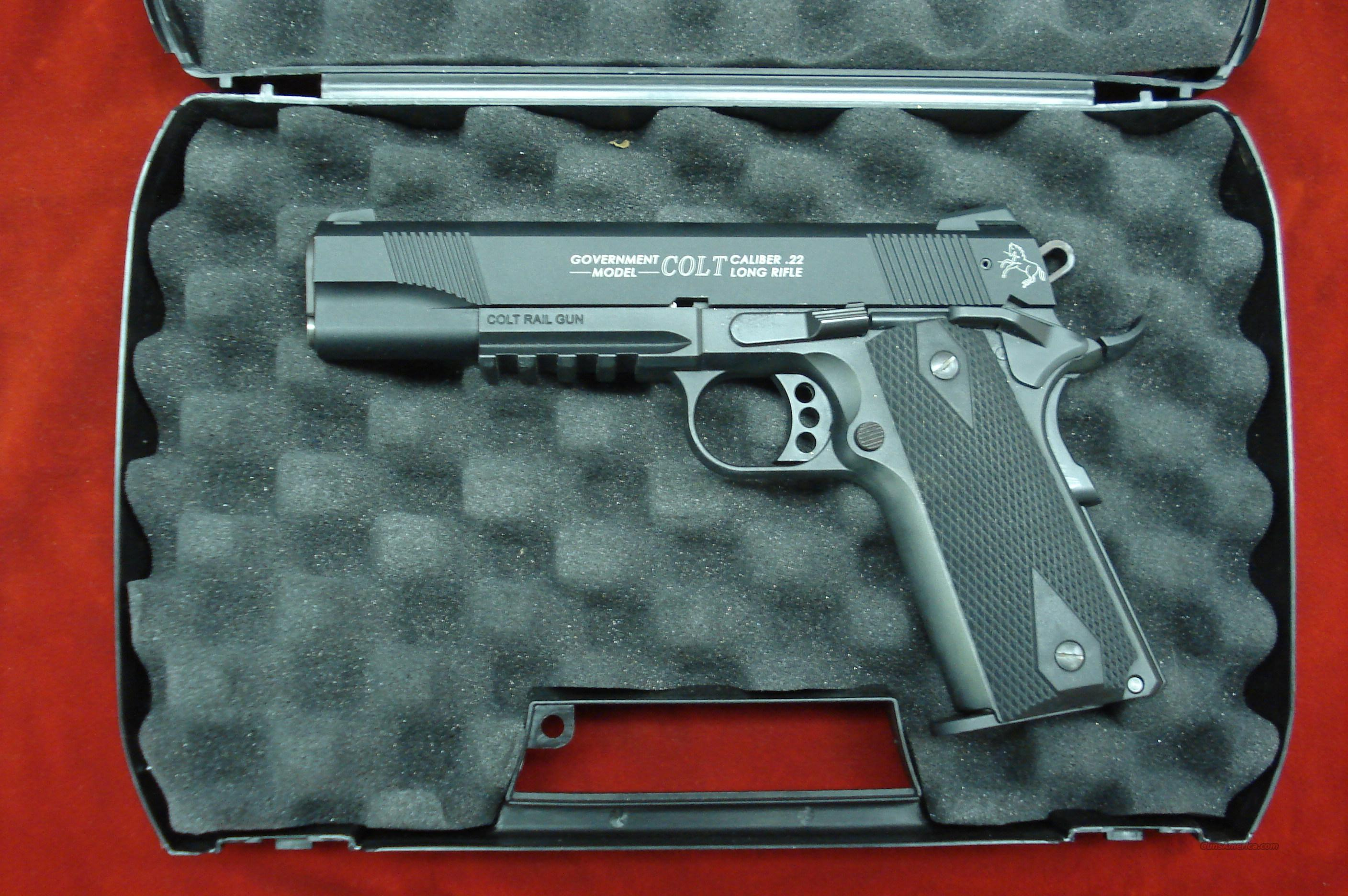 COLT UMAREX 1911 22CAL WITH TAC RAIL USED IN BOX   Guns > Pistols > Colt Automatic Pistols (22 Cal.)