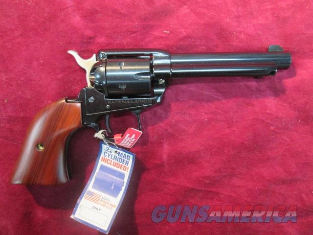"HERITAGE ROUGH RIDER 22LR/22 MAG 4.75"" BLUE NEW   (RR22MB4)   Guns > Pistols > Heritage"