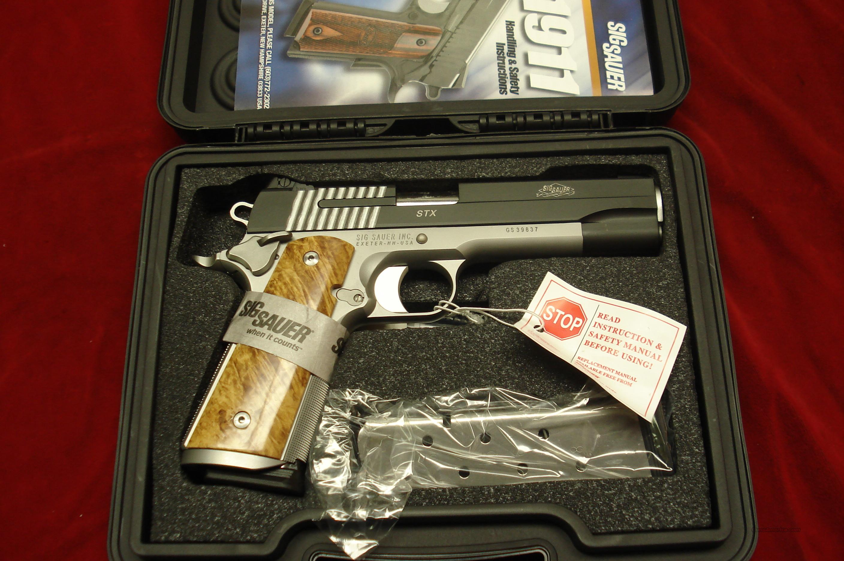 SIG SAUER 1911 STX REVERSE TWO TONE WITH ADJUSTABLE NIGHT SIGHTS NEW   Guns > Pistols > Sig - Sauer/Sigarms Pistols > 1911