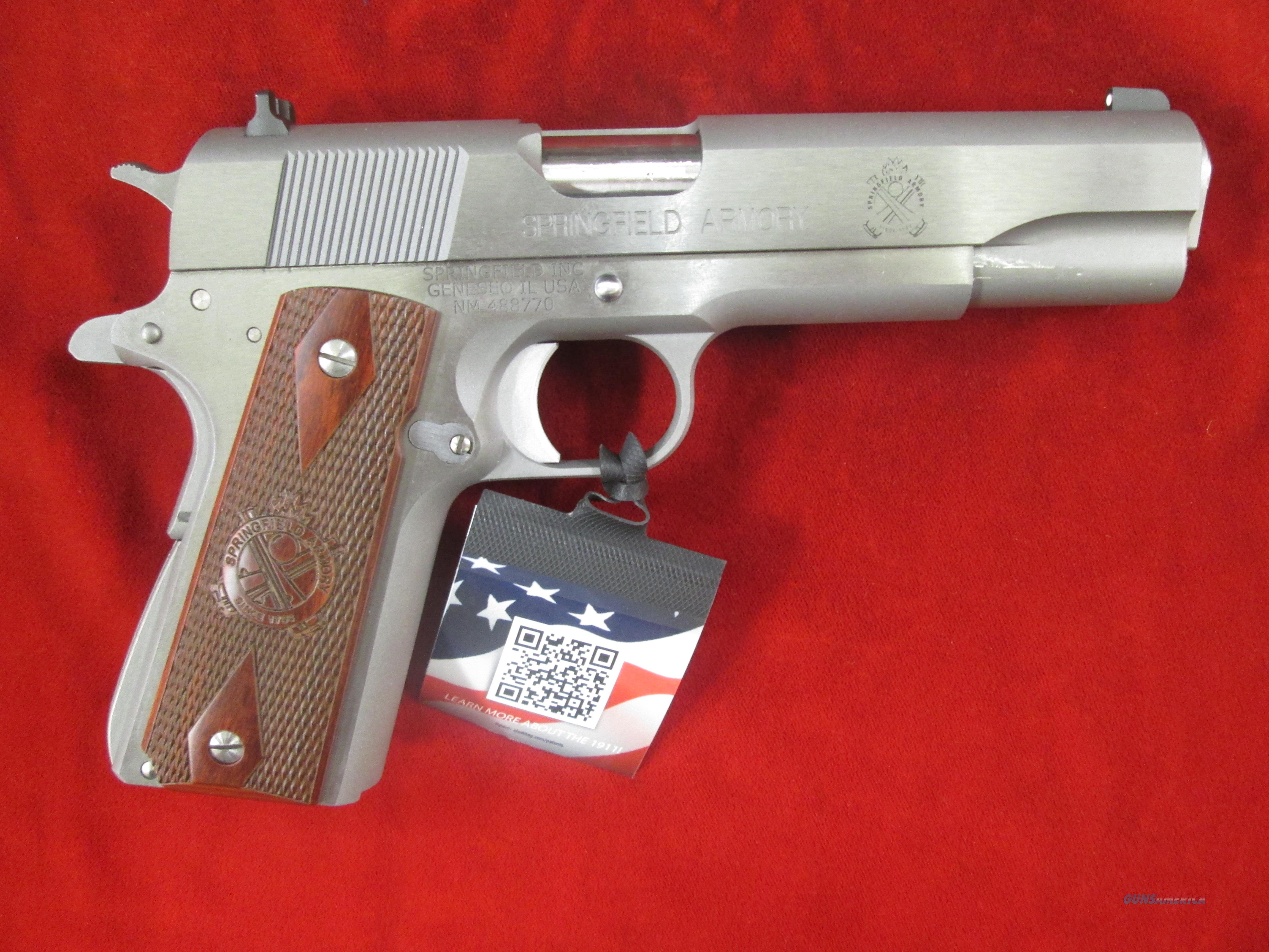 SPRINGFIELD ARMORY STAINLESS MILSPEC 1911A1 (PB9151L) NEW    Guns > Pistols > Springfield Armory Pistols > 1911 Type