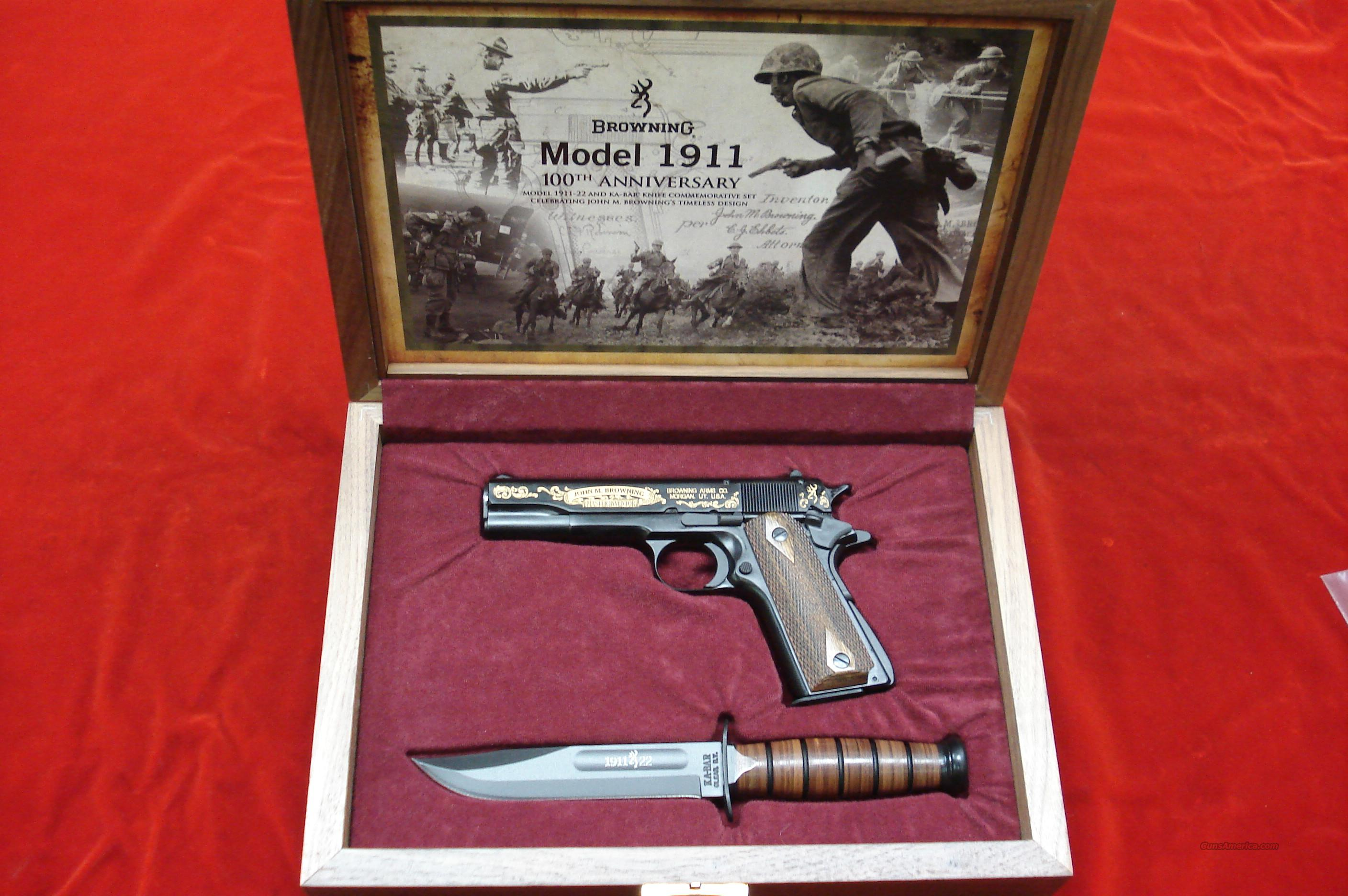 BROWNING 1911-22 CASED COMMEMORATIVE WITH KA-BAR AND DISPLAY CASE NEW  Guns > Pistols > Browning Pistols > Other Autos