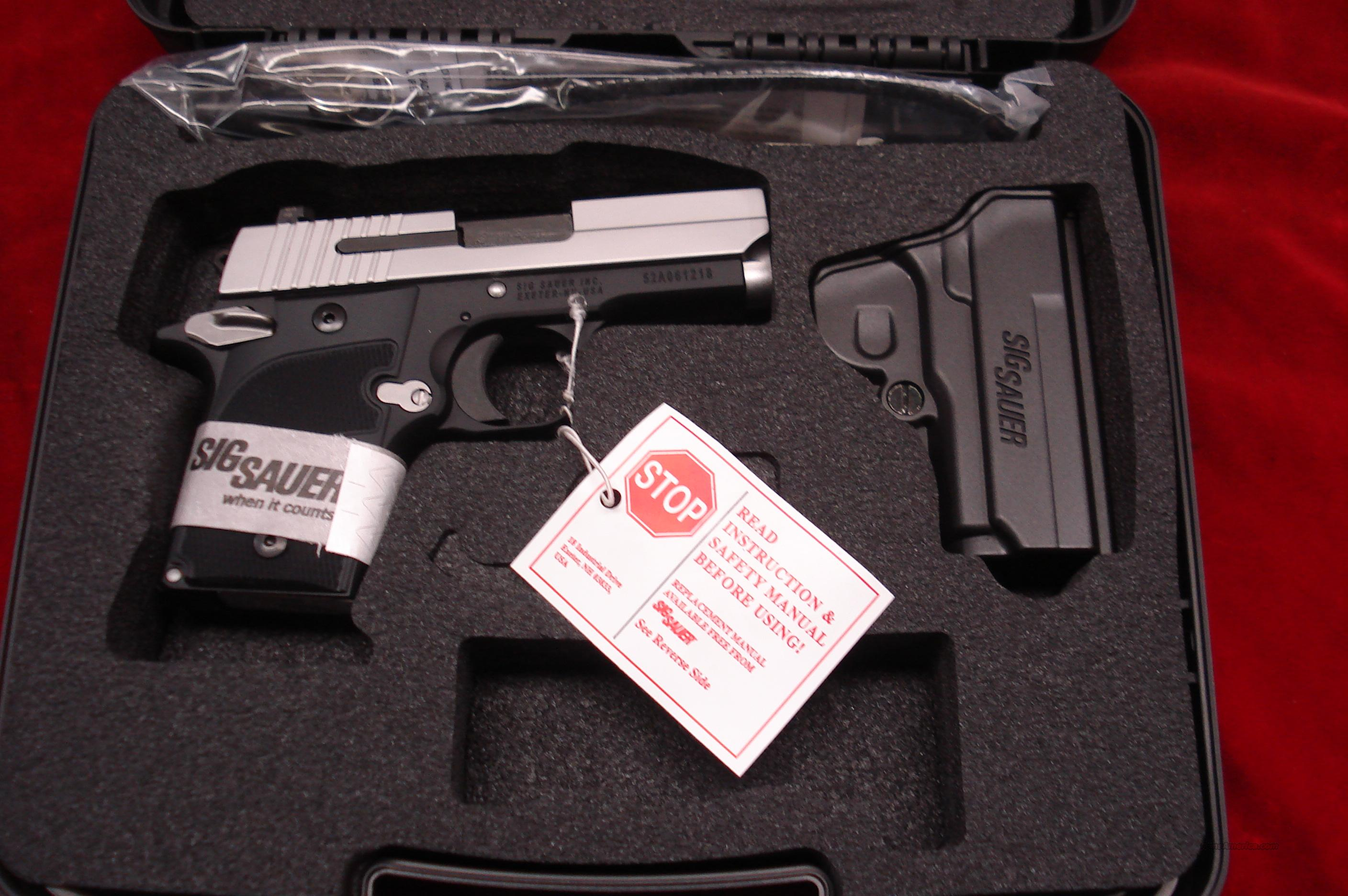 SIG SAUER 938 9MM STAINLESS SLIDE W/NIGHT SIGHTS NEW  Guns > Pistols > Sig - Sauer/Sigarms Pistols > Other