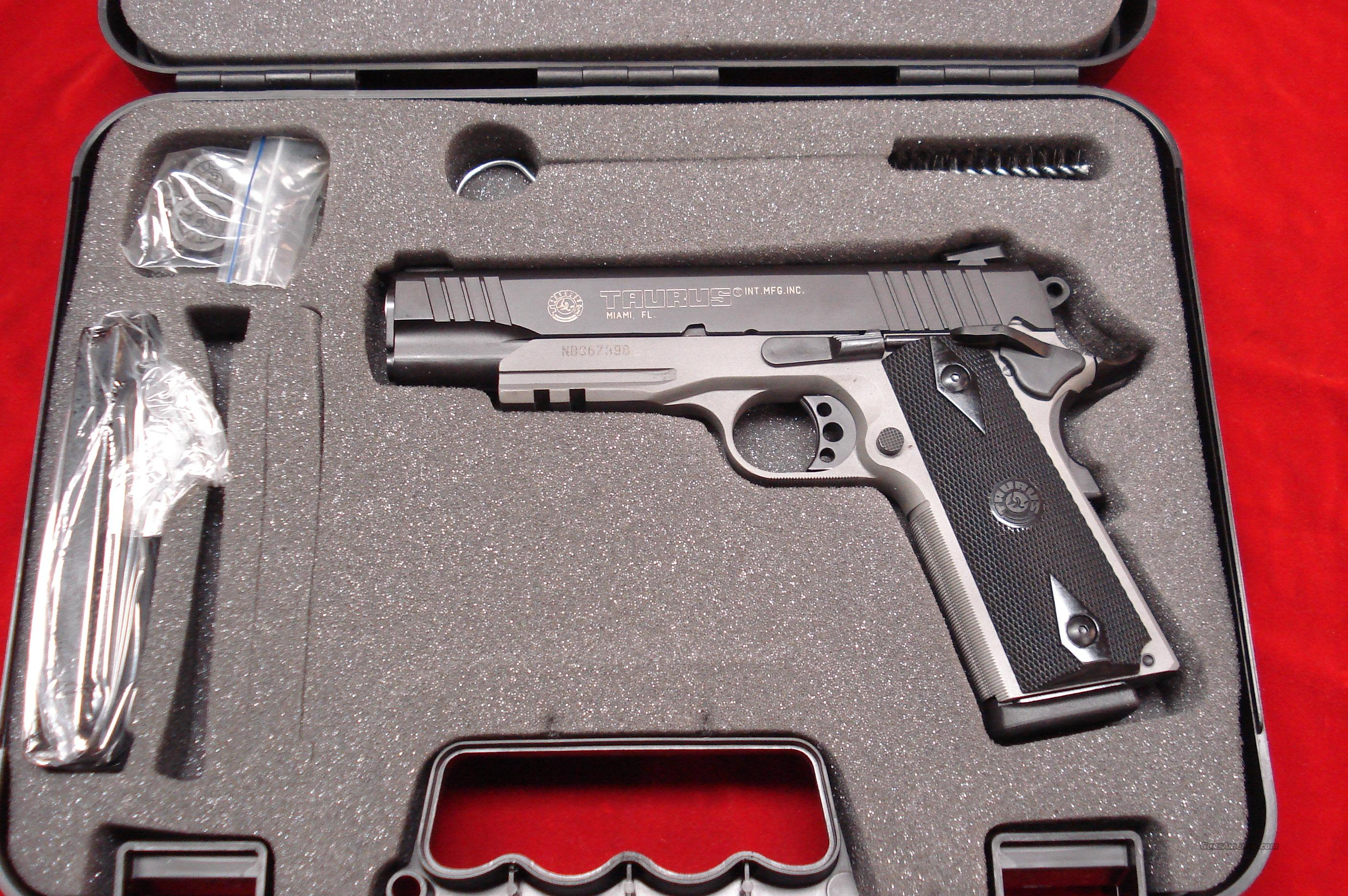 TAURUS 1911 BLUE AND GRAY ALLOY W/TAC RAIL NEW  Guns > Pistols > Taurus Pistols/Revolvers > Pistols > Steel Frame