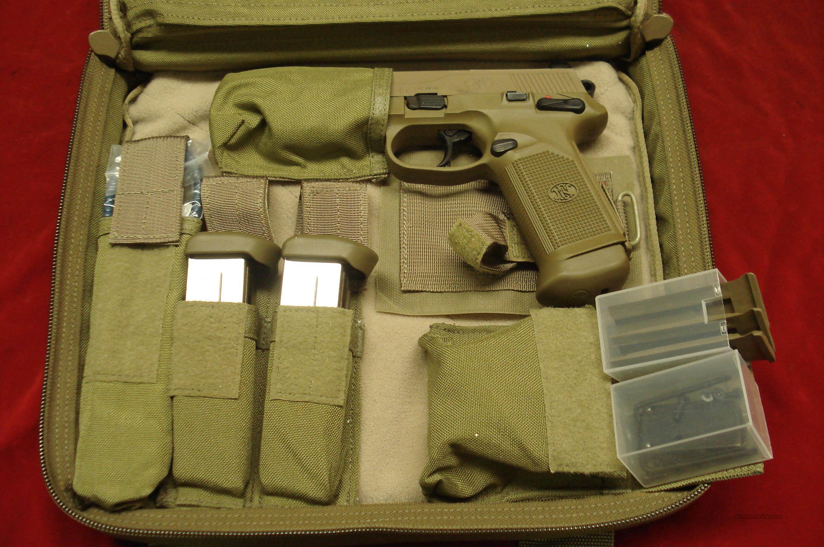 FN FNX-45 TACTICAL FLAT DARK EARTH NEW  Guns > Pistols > FNH - Fabrique Nationale (FN) Pistols > FNP