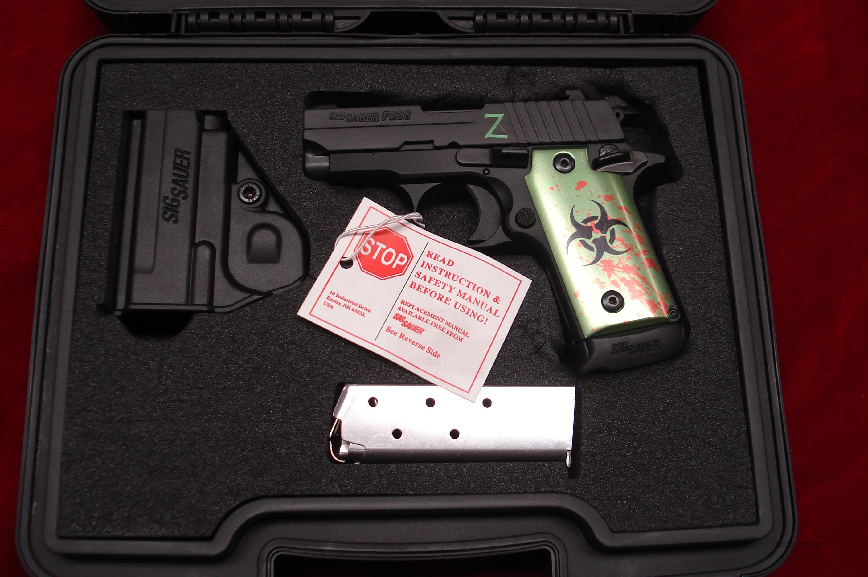 SIG SAUER P238 ZOMBIE 380CAL. MATTE BLACK WITH NIGHT SIGHTS NEW  Guns > Pistols > Sig - Sauer/Sigarms Pistols > Other