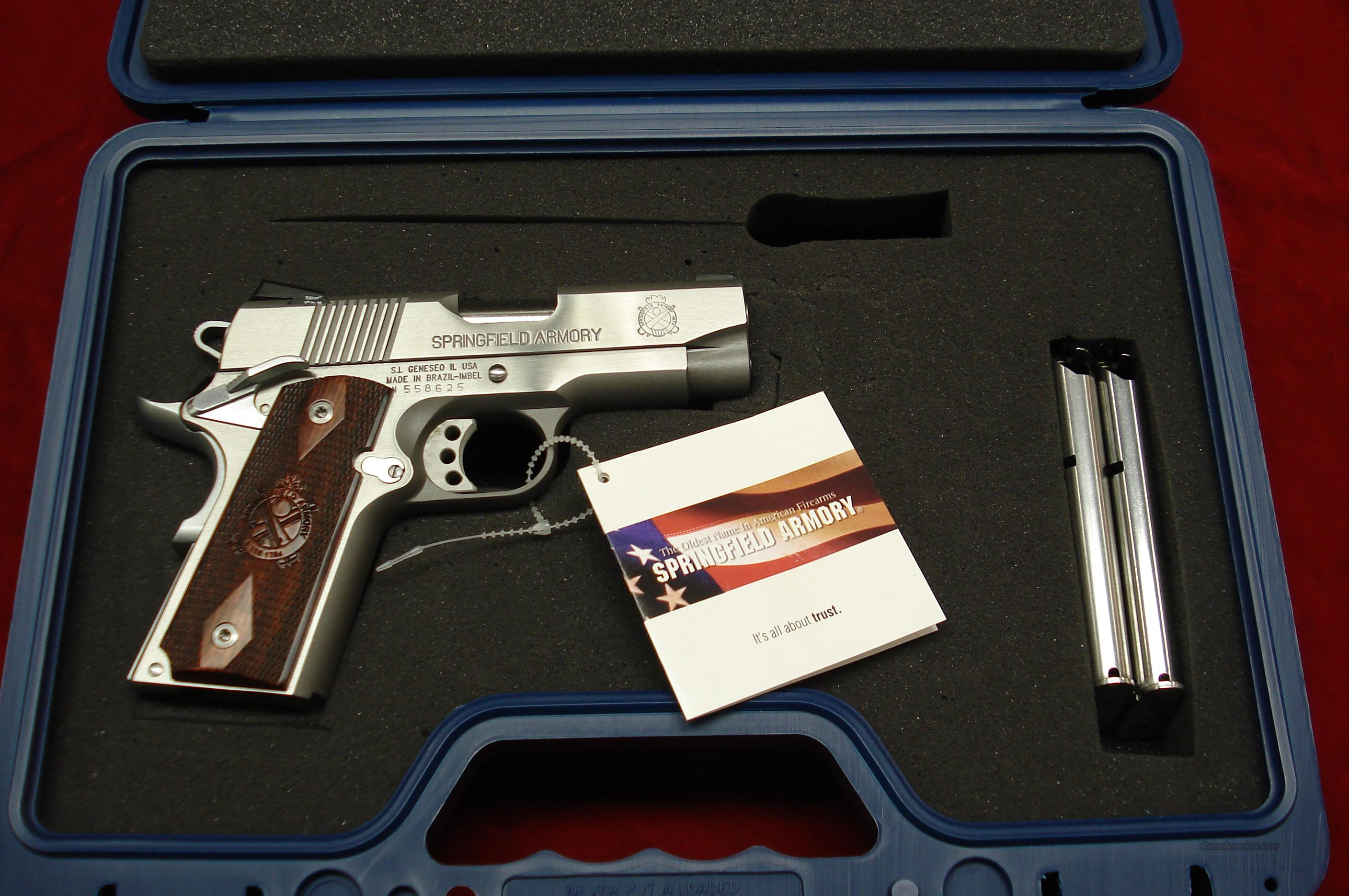 SPRINGFIELD ARMORY STAINLESS ULTRA COMPACT  WITH NIGHT SIGHTS (PX9161LP) NEW  Guns > Pistols > Springfield Armory Pistols > 1911 Type