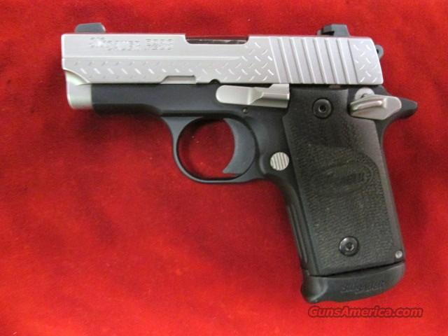 SIG P238 STAINLESS DIAMOND PLATE 380CAL. NIGHT SIGHTS USED  (238-380-DP)  Guns > Pistols > Sig - Sauer/Sigarms Pistols > P238