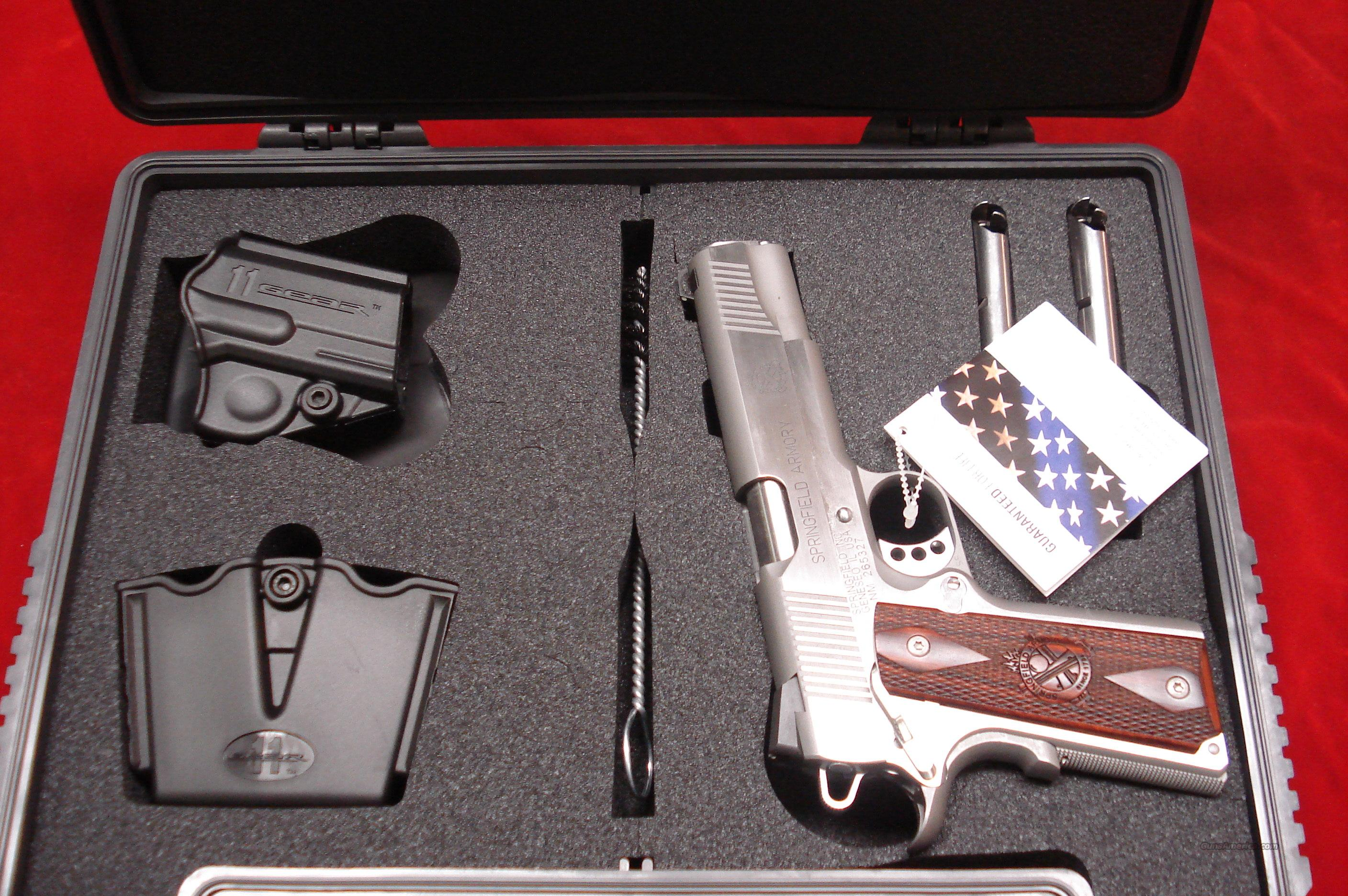 SPRINGFIELD ARMORY STAINLESS 1911 A1 LOADED 45 ACP (PX9151LP) NEW   Guns > Pistols > Springfield Armory Pistols > 1911 Type