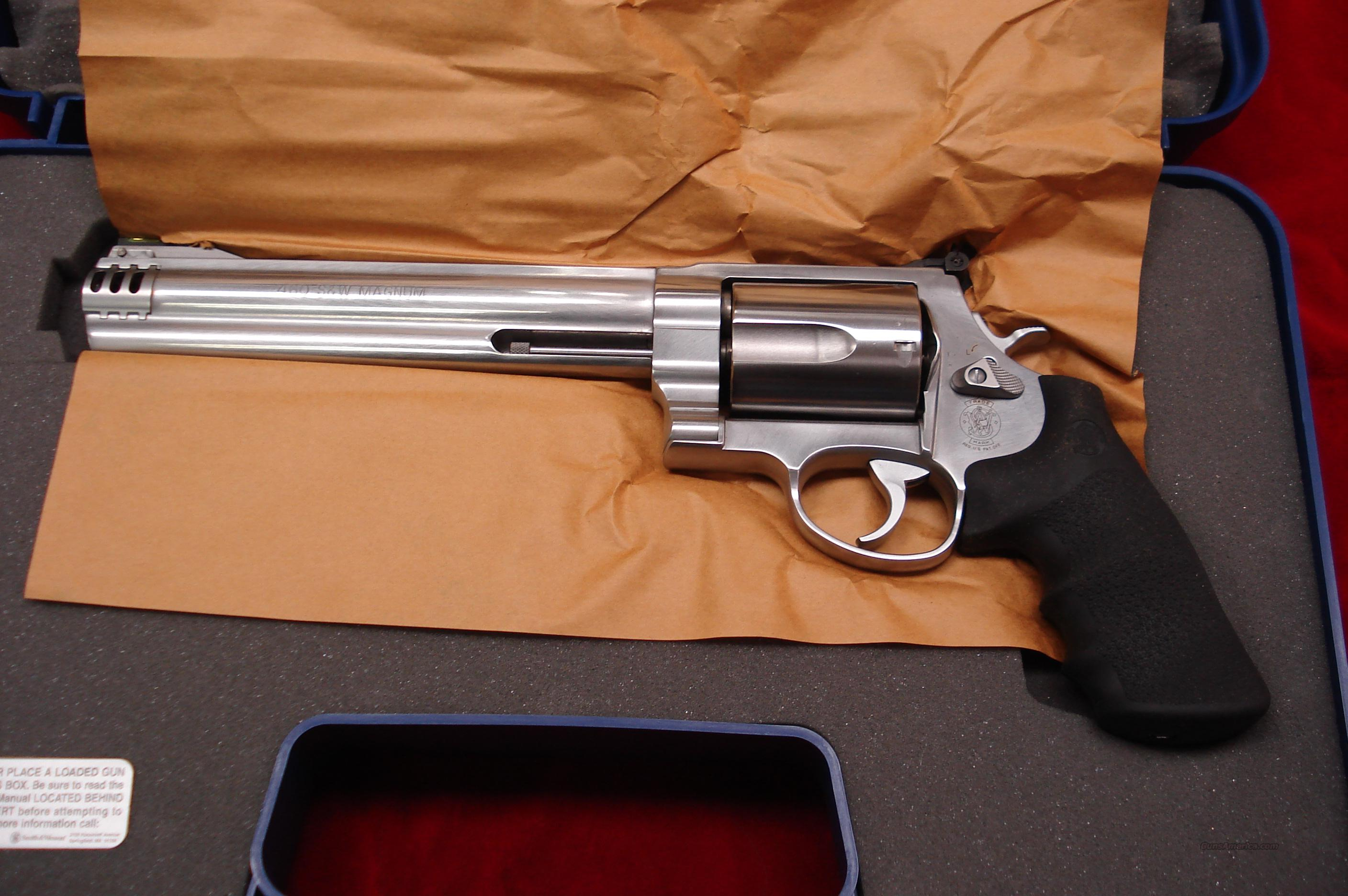 "SMITH AND WESSON 460XVR STAINLESS 460S&W CAL. 8 3/8"" NEW  Guns > Pistols > Smith & Wesson Revolvers > Full Frame Revolver"