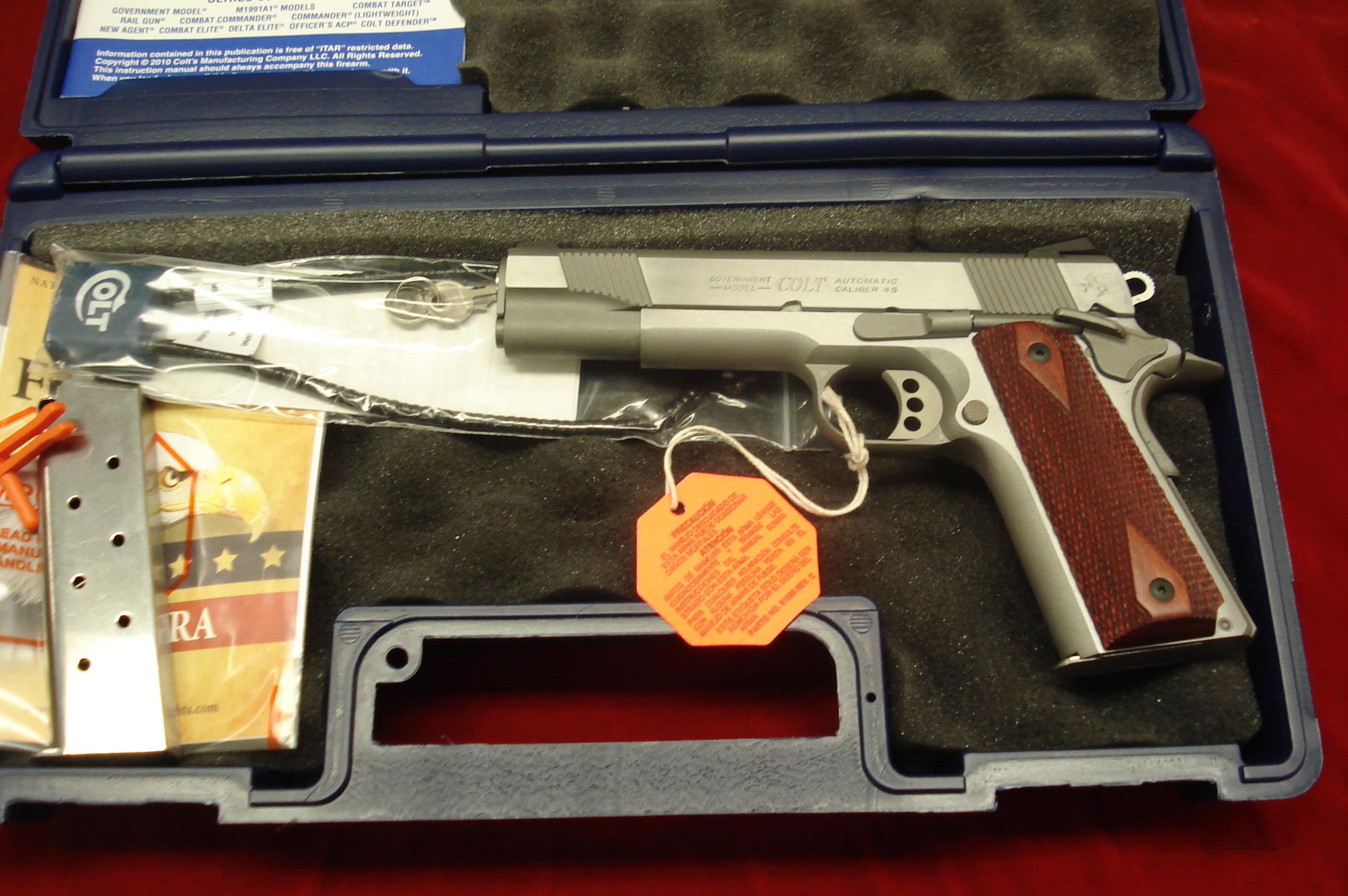 "COLT GOVT. MODEL 1911 ENHANCED SERIES STAINLESS 45ACP (O1070XSE) ""100 YEARS OF SERVICE"" NEW  Guns > Pistols > Colt Automatic Pistols (1911 & Var)"