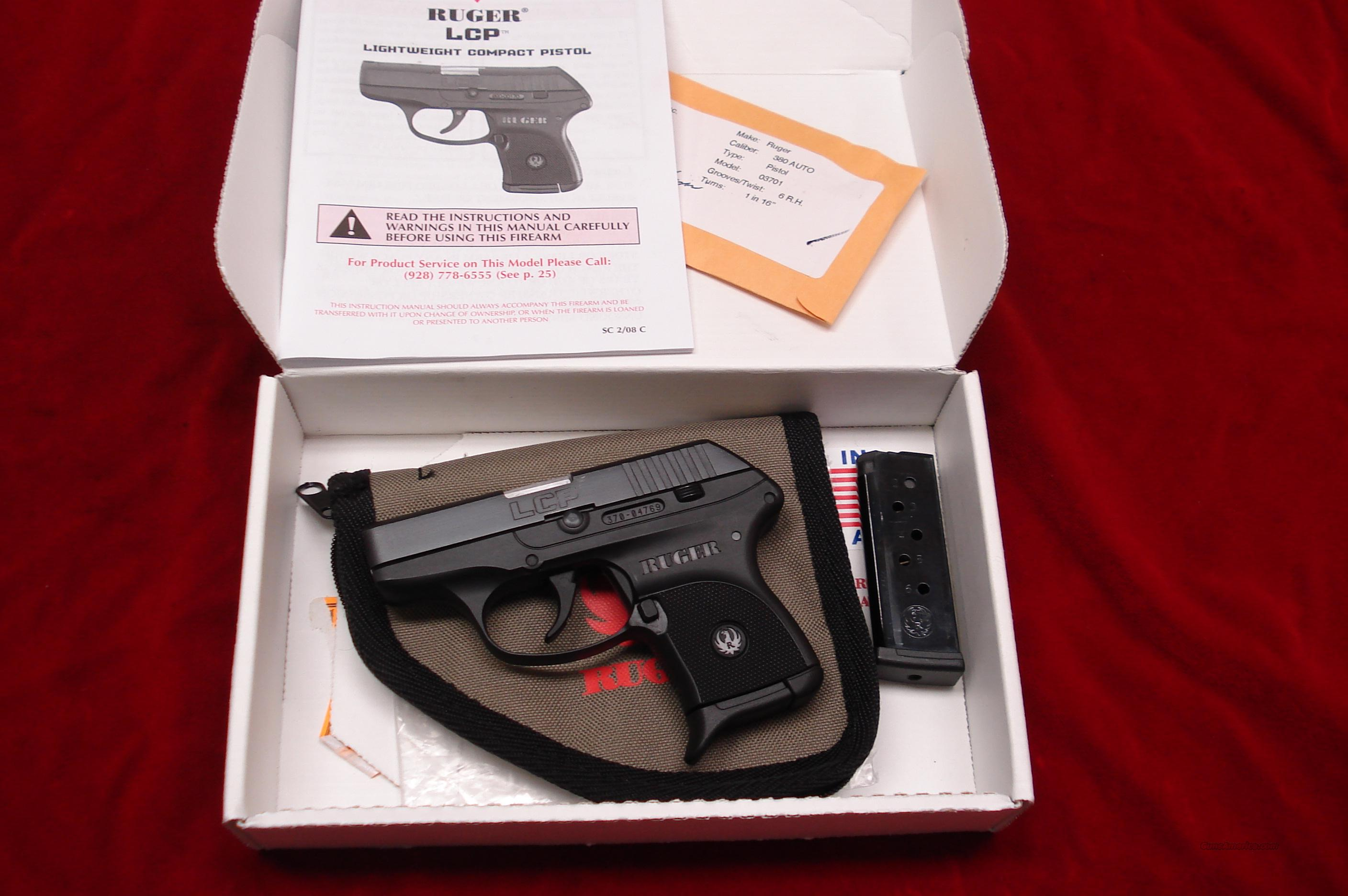 RUGER LCP  (Lightweight Compact Pistol) 380CAL. LNIB  Guns > Pistols > Ruger Semi-Auto Pistols > LCP