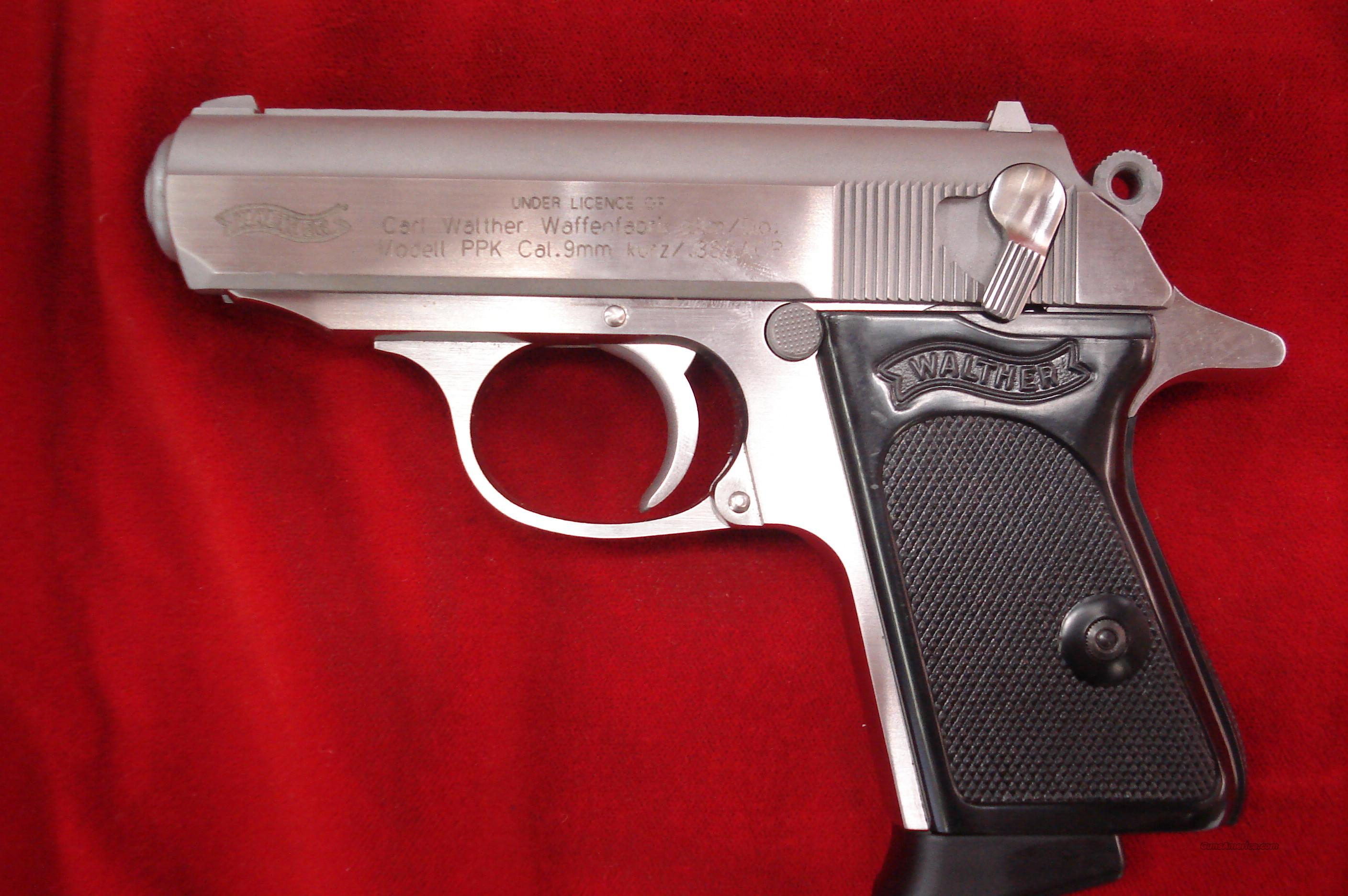 WALTHER PPK STAINLESS 380 CAL. NEW   Guns > Pistols > Walther Pistols > Post WWII > PPK Series