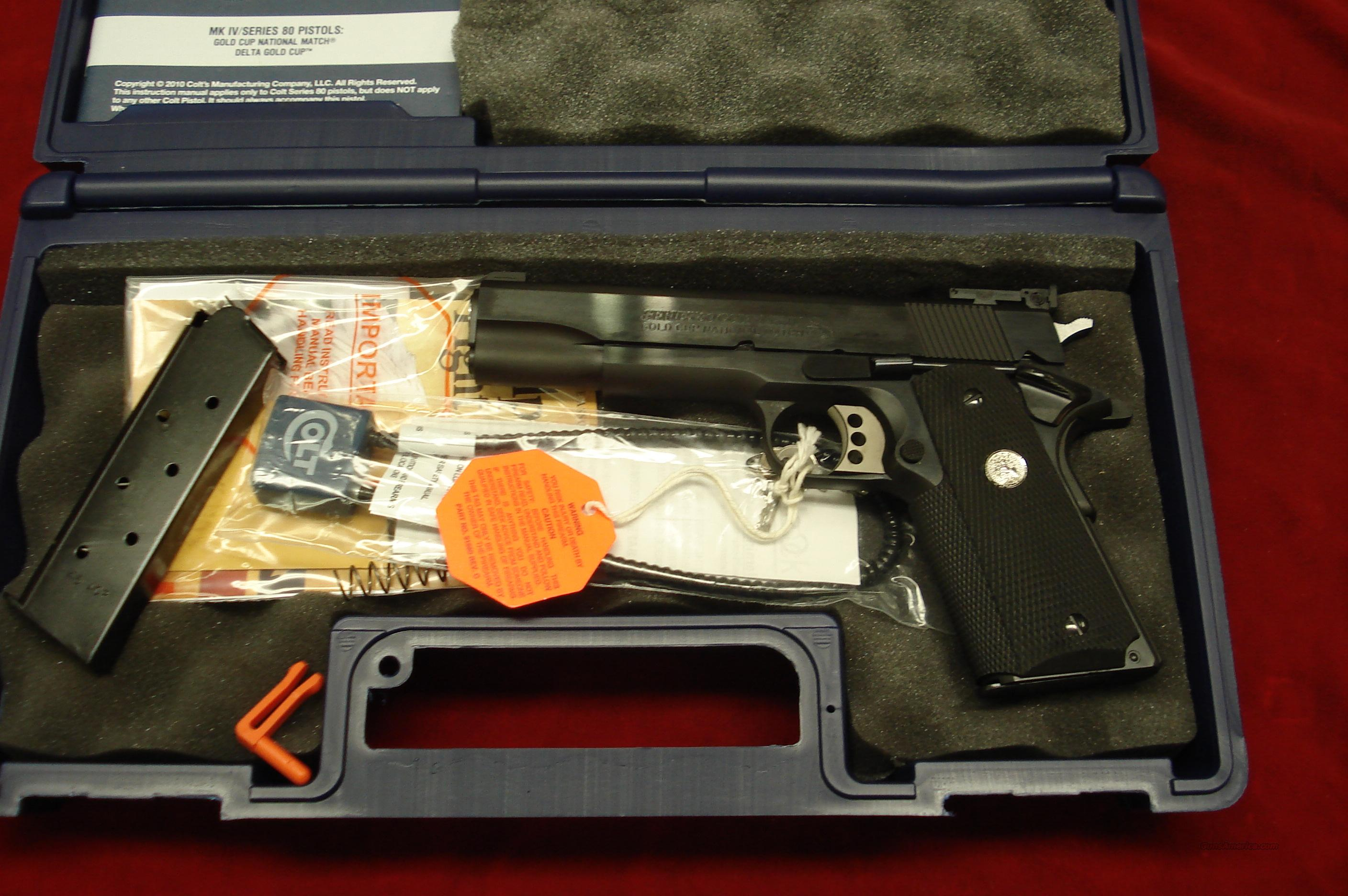 COLT GOLD CUP NATIONAL MATCH  BLUE 45ACP NEW  Guns > Pistols > Colt Automatic Pistols (1911 & Var)