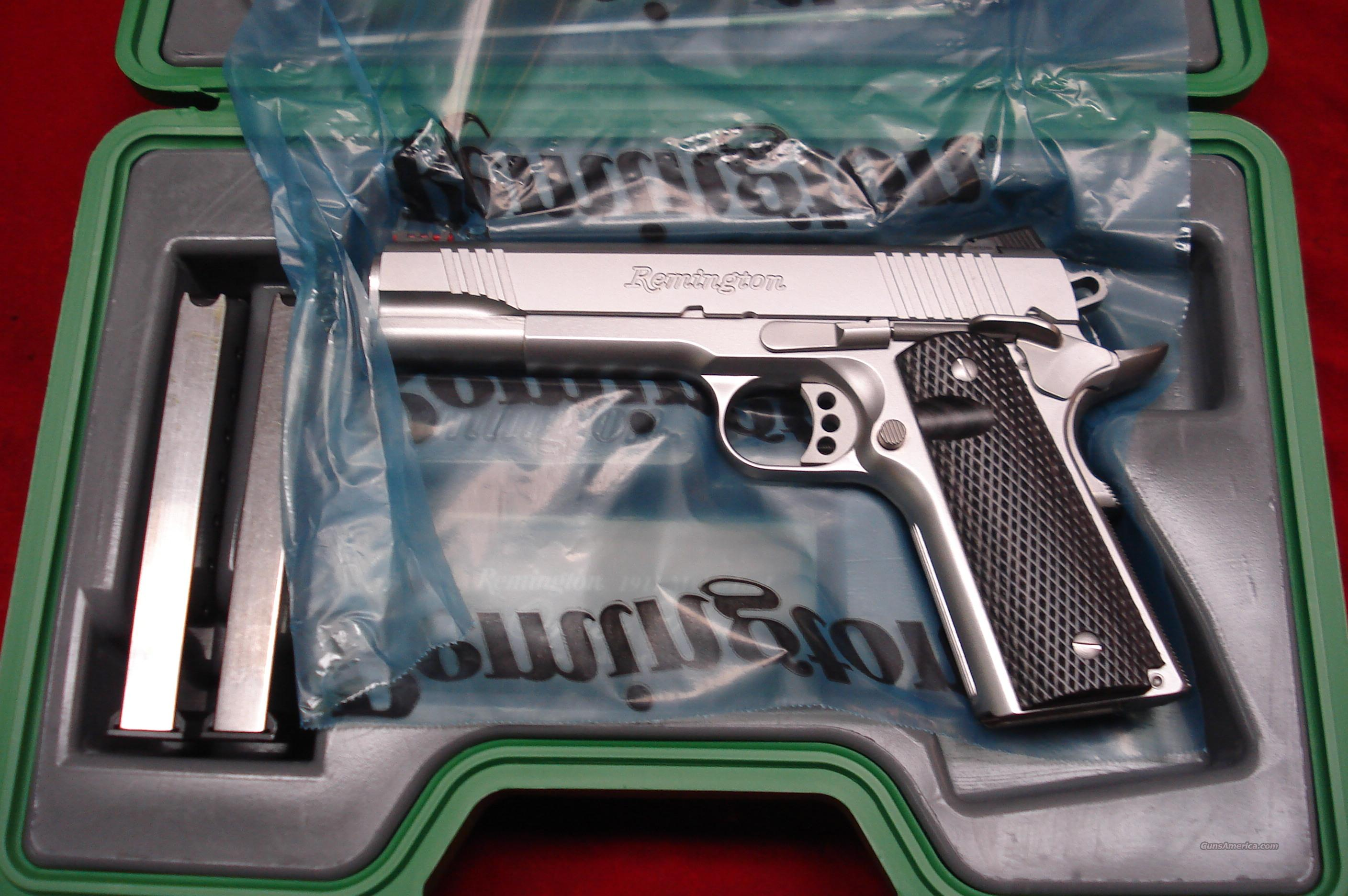 REMINGTON STAINLESS ENHANCED EDITION 1911 R1 45ACP NEW {{ IN STOCK READY TO SHIP }}  Guns > Pistols > Remington Pistols - Modern
