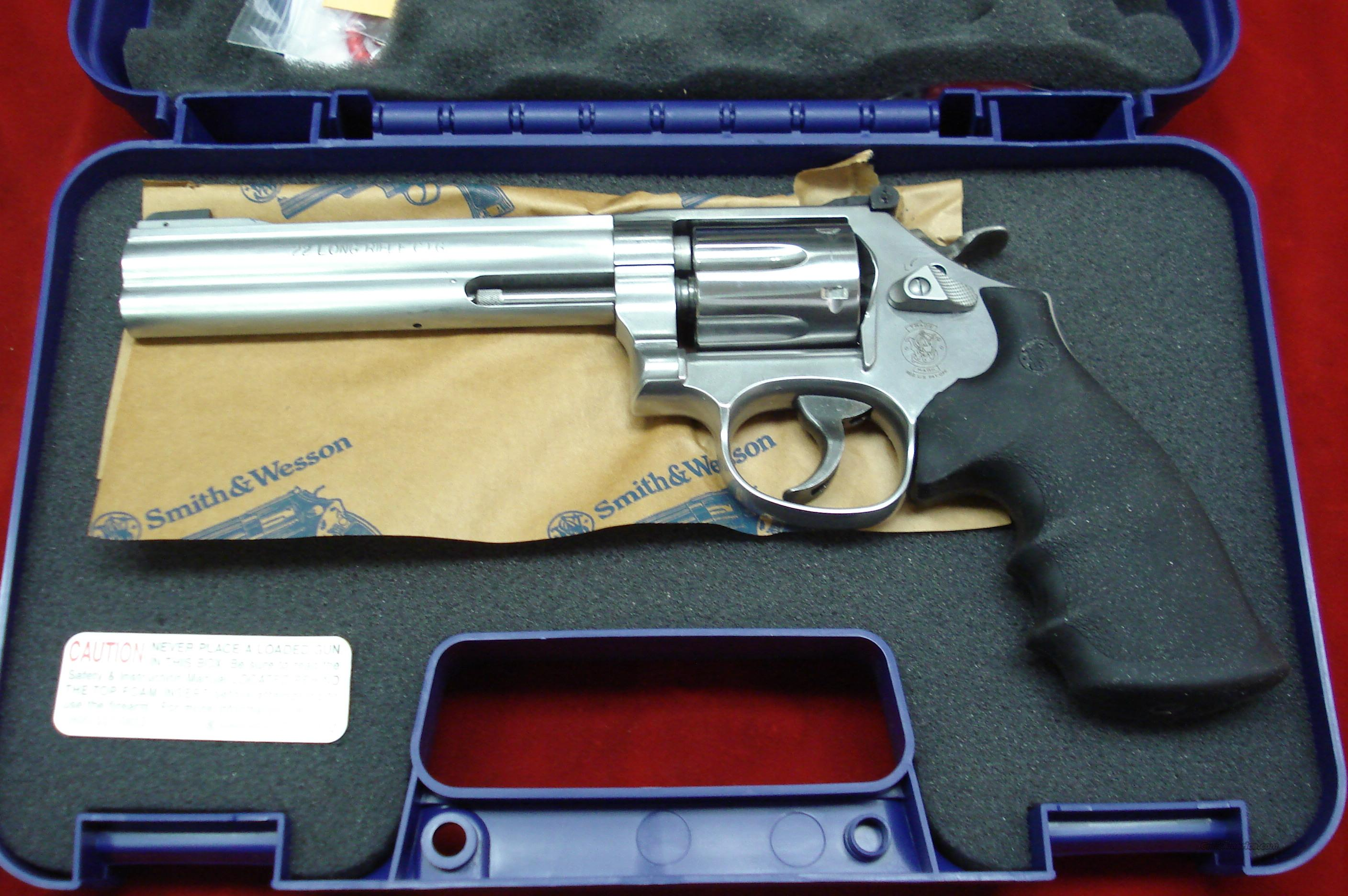 "SMITH AND WESSON 617 22CAL. STAINLESS 6"" SIX SHOT NEW  Guns > Pistols > Smith & Wesson Revolvers > Full Frame Revolver"