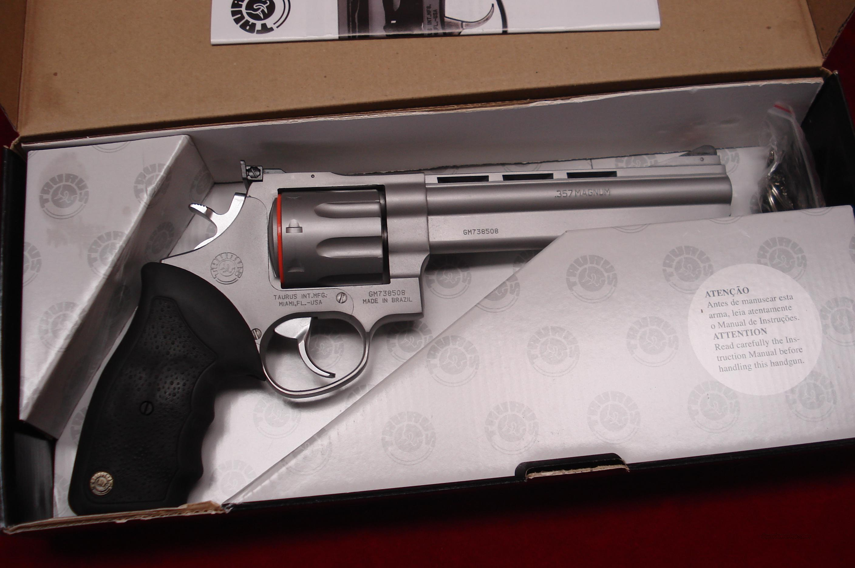 "TAURUS MODEL 608CP STAINLESS PORTED 6.5"" 357MAG. NEW   Guns > Pistols > Taurus Pistols/Revolvers > Revolvers"