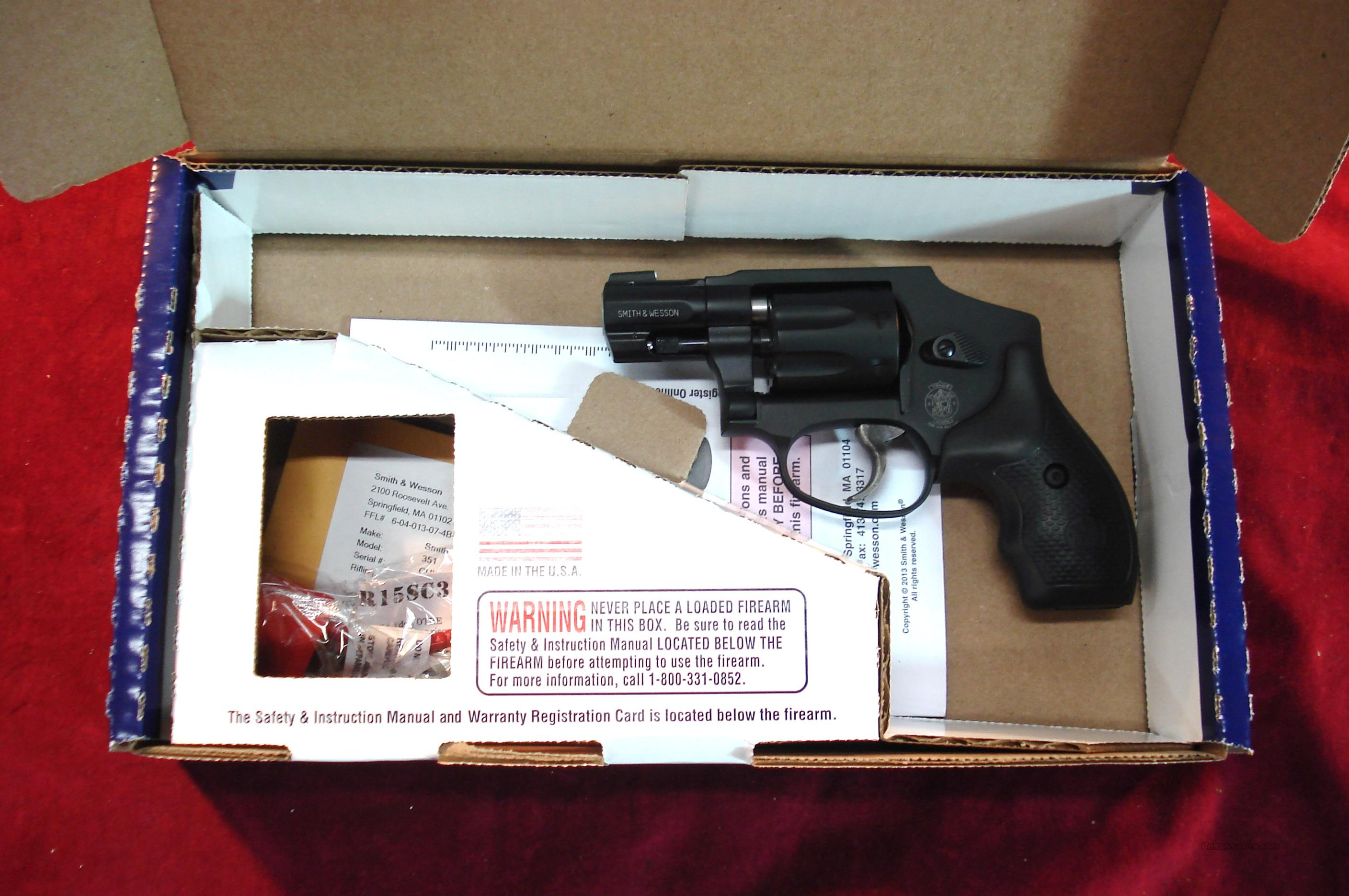 SMITH AND WESSON MODEL 351, 7 SHOT 22 MAGNUM REVOLVER, BLACK NEW  Guns > Pistols > Smith & Wesson Revolvers > Pocket Pistols