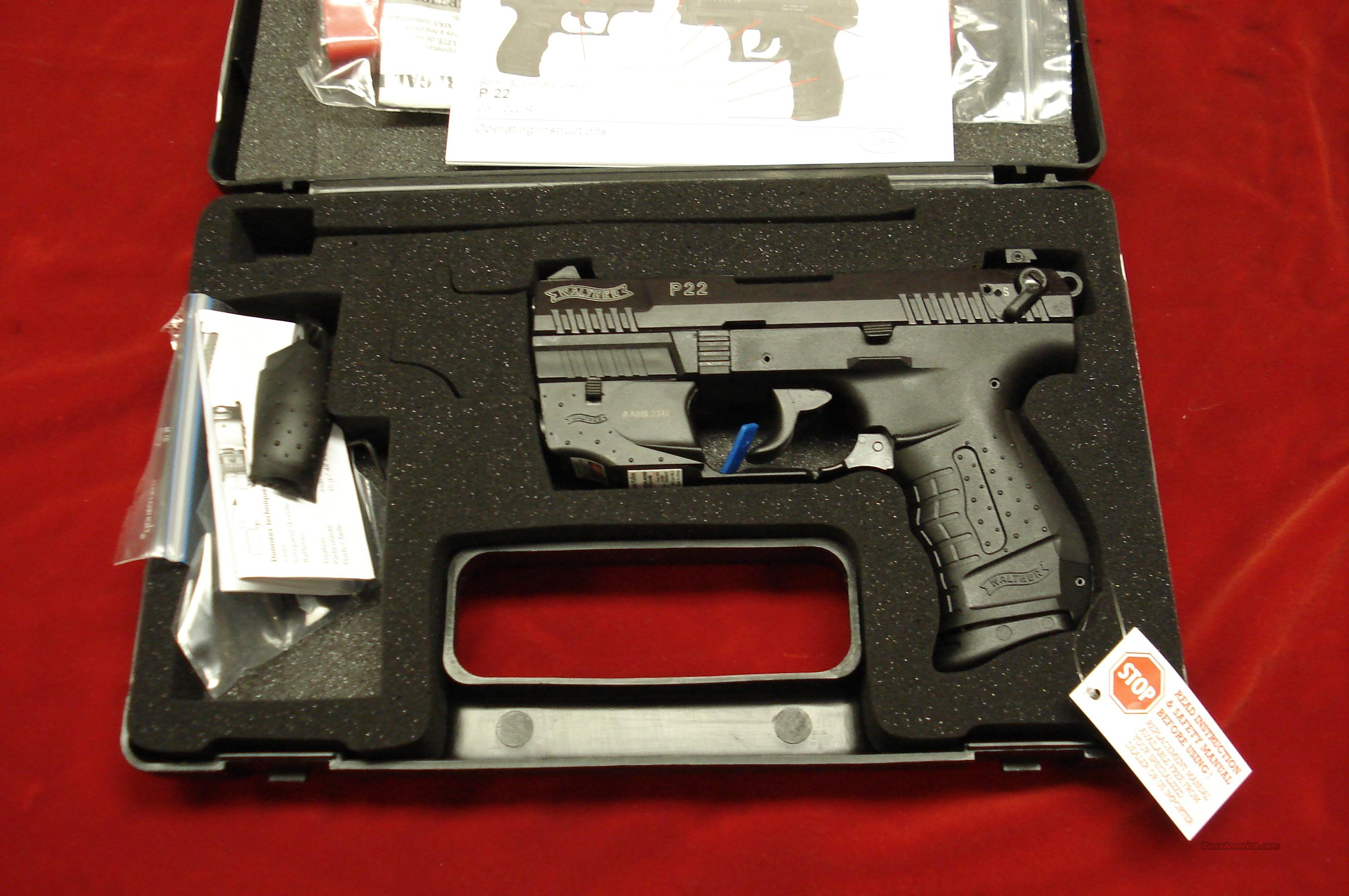 "WALTHER P22 3.42"" W/FACTORY LASER NEW  Guns > Pistols > Walther Pistols > Post WWII > Target Pistols"