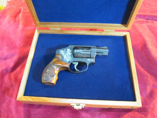 SMITH AND WESSON 442 ENGRAVED 38 SPECIAL+P NEW  Guns > Pistols > Smith & Wesson Revolvers > Pocket Pistols