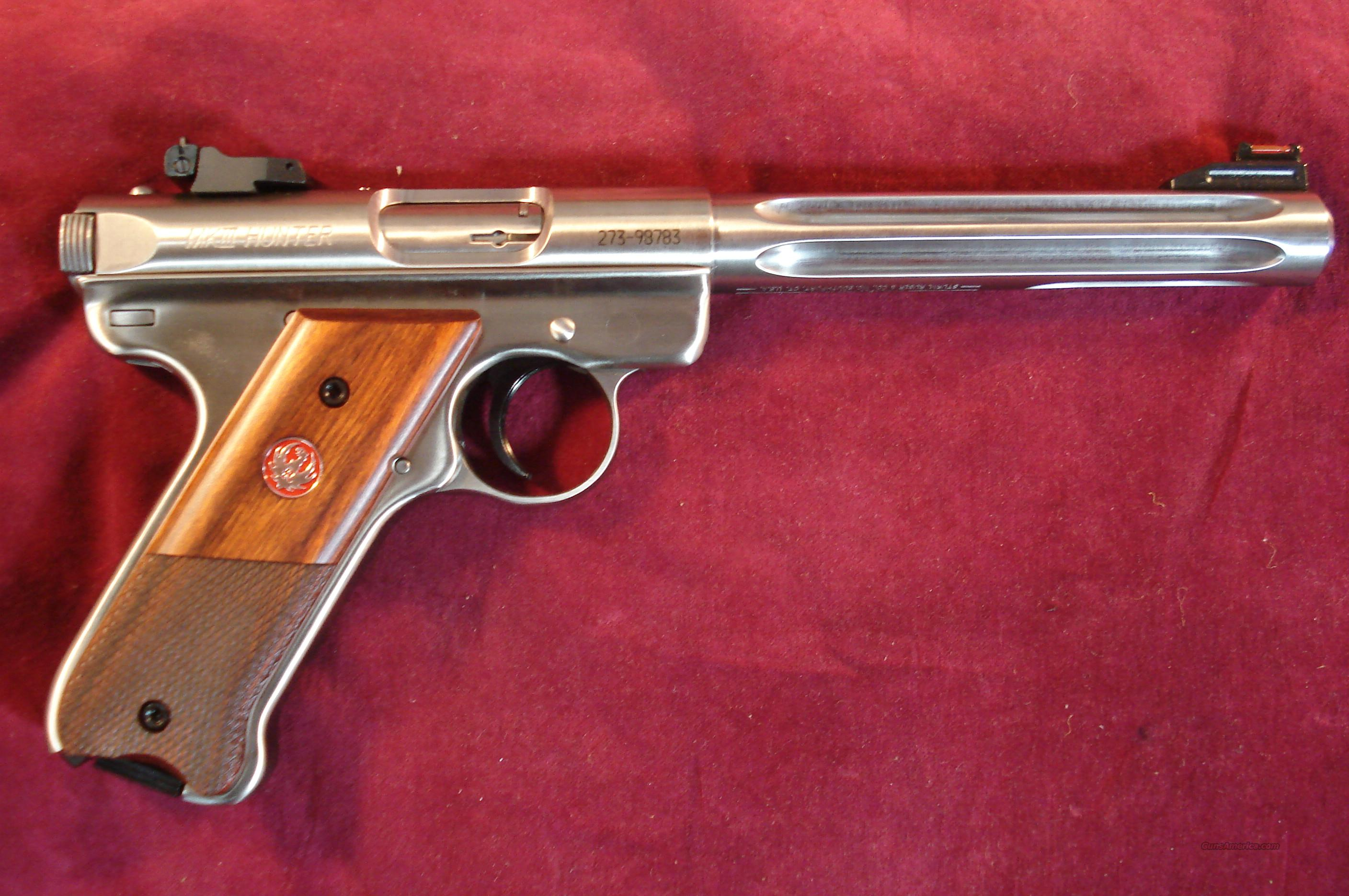 "RUGER MKIII HUNTER 6 7/8"" STAINLESS FLUTED 22CAL. NEW   Guns > Pistols > Ruger Semi-Auto Pistols > Mark I/II/III Family"