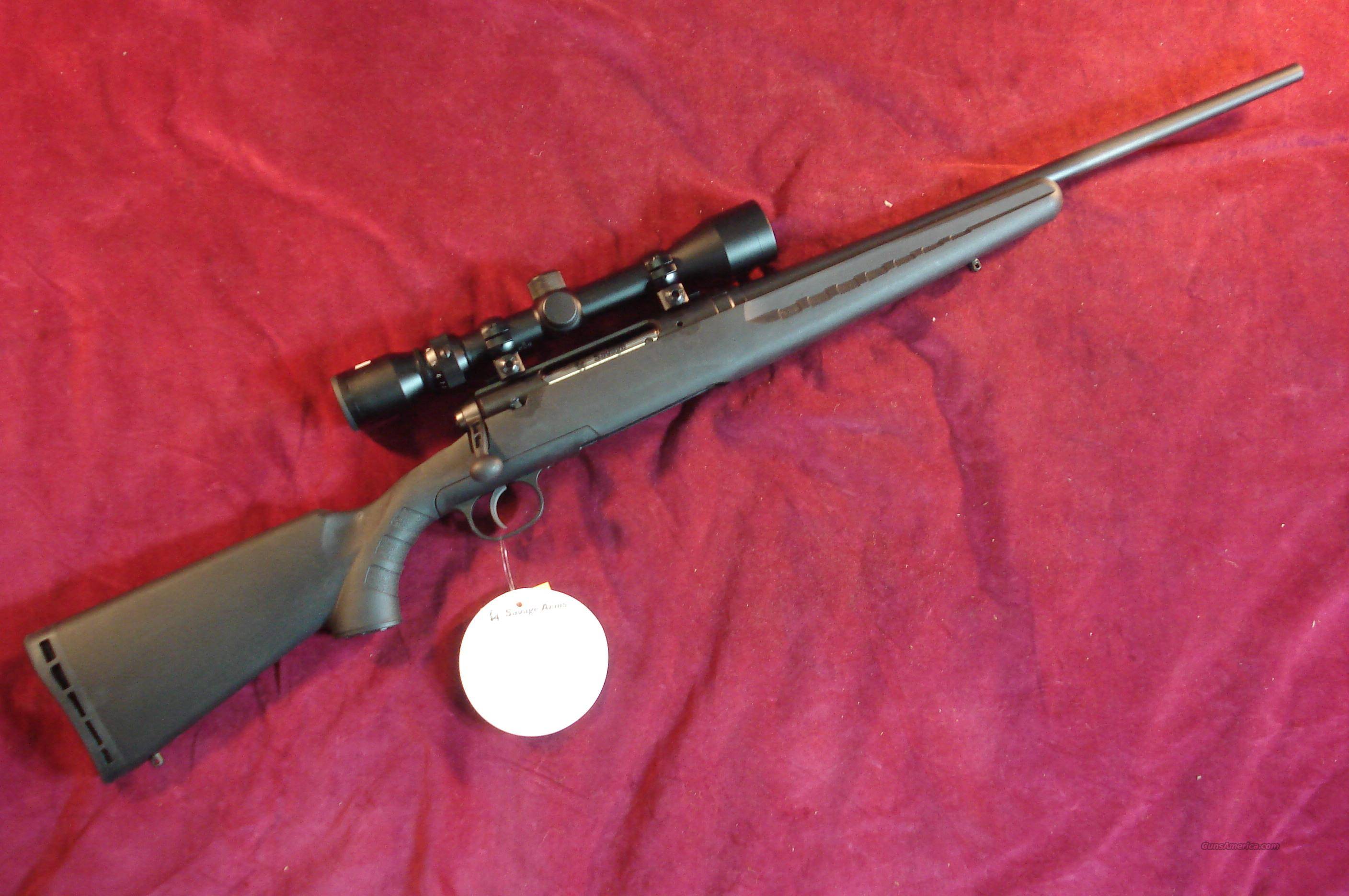 SAVAGE AXIS 243 YOUTH W/ 3X9 SCOPE NEW  Guns > Rifles > Savage Rifles > Standard Bolt Action > Sporting