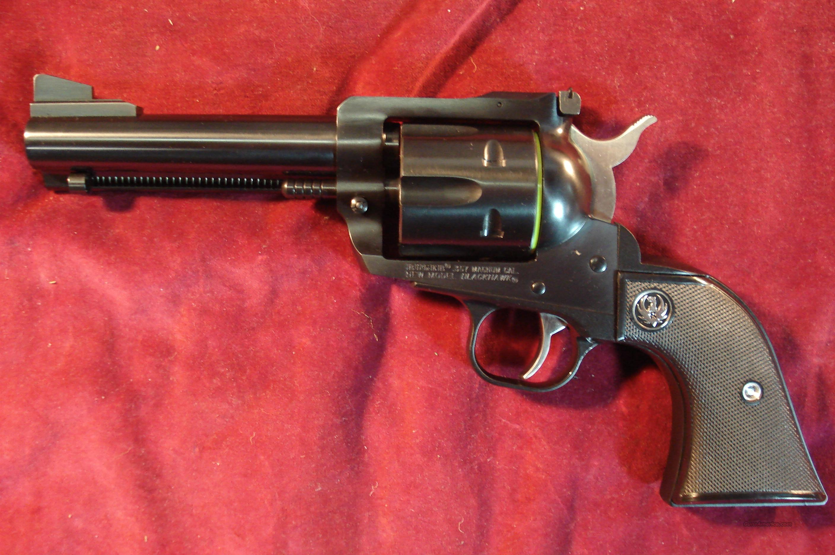 "RUGER BLACKHAWK CONVERTIBLE 357/9MM CAL 4 5/8"" BLUED NEW  Guns > Pistols > Ruger Single Action Revolvers > Blackhawk Type"