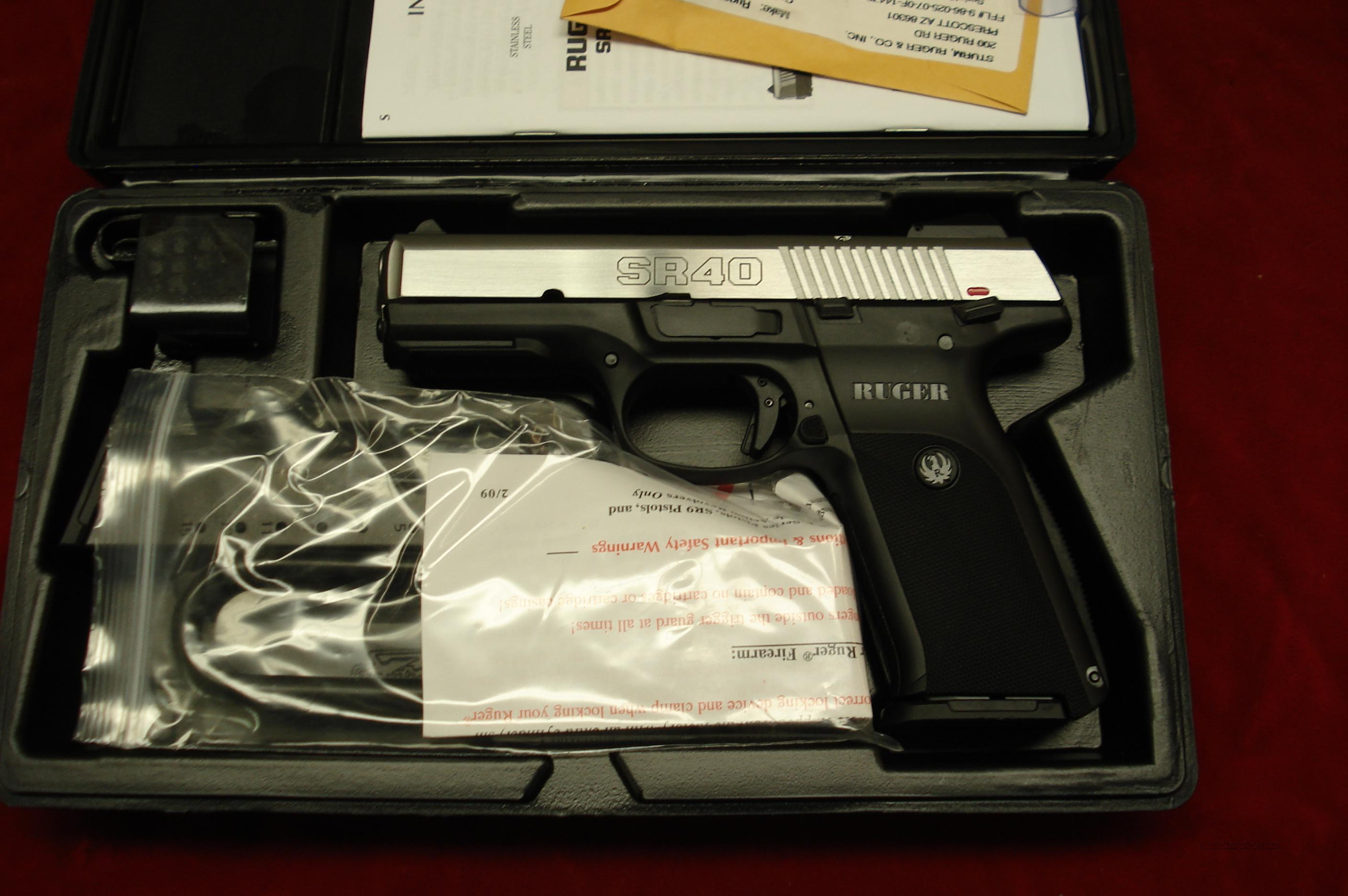 RUGER  SR40 STAINLESS NEW (IN STOCK)! (SR40)  Guns > Pistols > Ruger Semi-Auto Pistols > SR Family > SR40