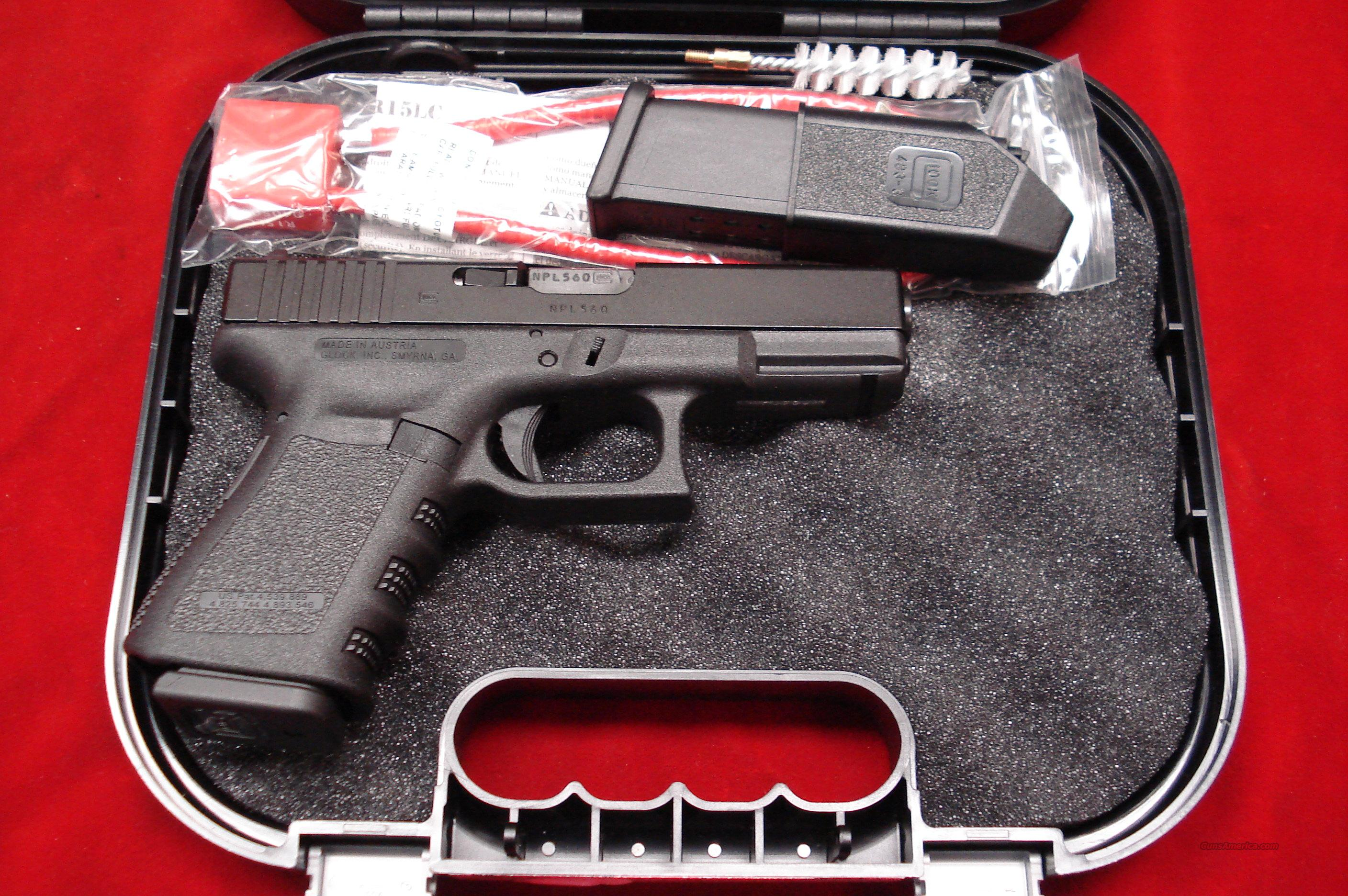 GLOCK MODEL 19C (COMPENSATED) 9MM NEW  Guns > Pistols > Glock Pistols > 19