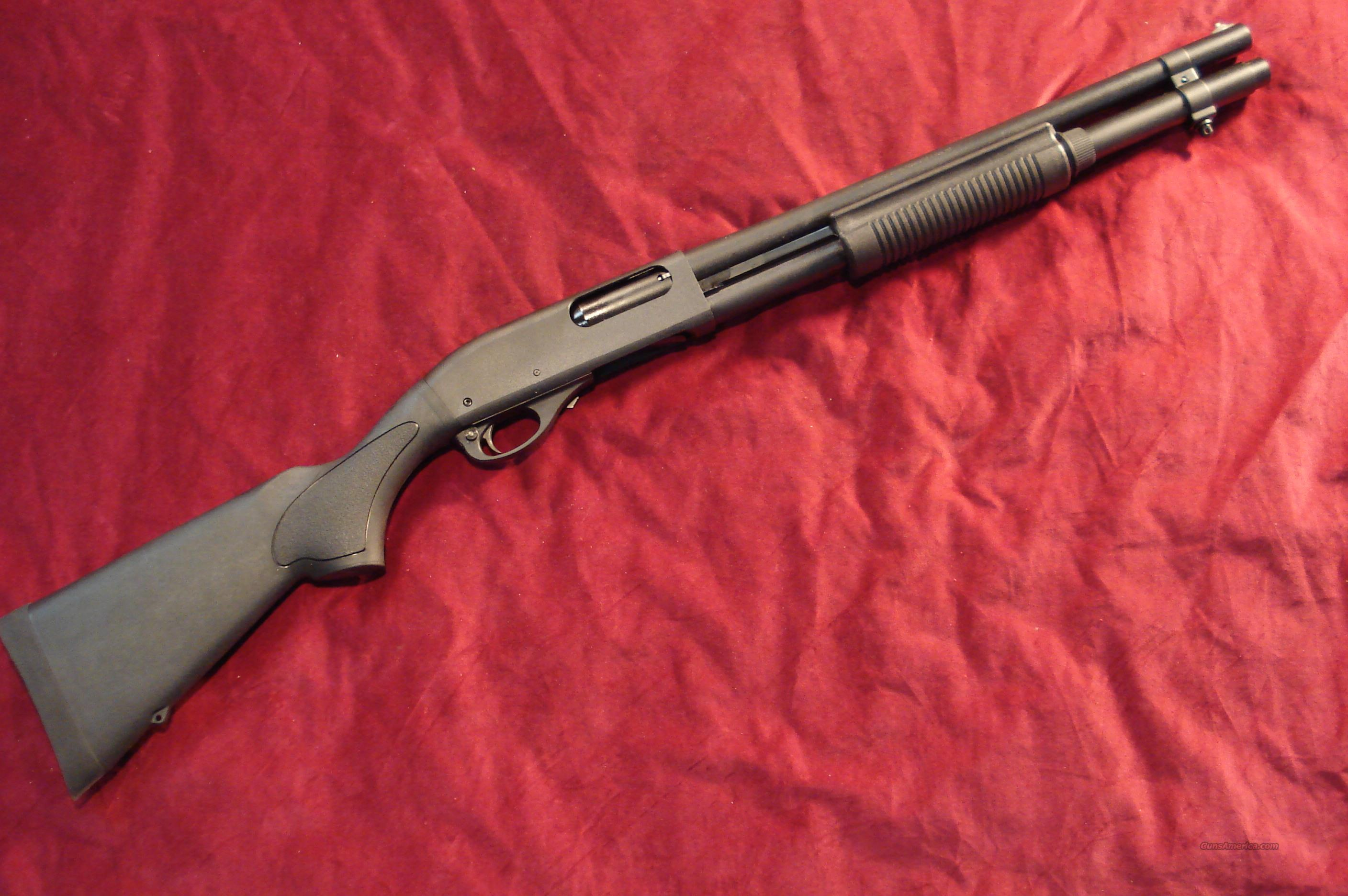 "NEW STYLE REMINGTON 870 HD (HOME DEFENSE)12G PUMP ACTION SHOTGUN WITH A 18"" BARREL, 3"" CHAMBER, CYLINDER BORE, FACTORY MAG EXTENSION 7-SHOT MAGAZINE.IT HAS BEAD FRONT SIGHT, SYNTHETIC STOCK AND FOREARM, MATTE BLACK FINISH ON ALL METAL.   Guns > Shotguns > Remington Shotguns  > Pump > Tactical"