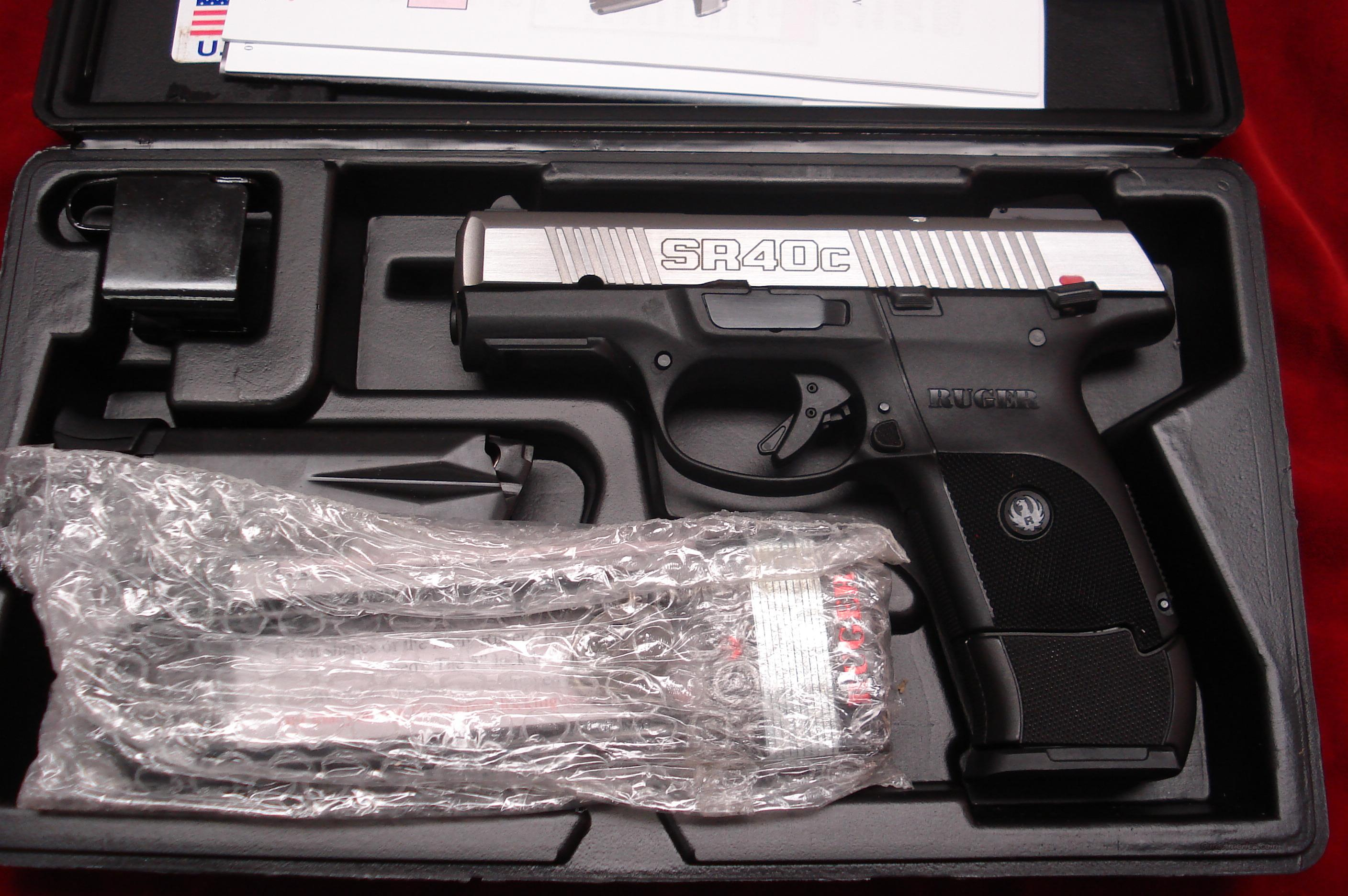 RUGER SR40C (COMPACT) STAINLESS NEW (IN STOCK)! (KSR40C)  Guns > Pistols > Ruger Semi-Auto Pistols > SR9
