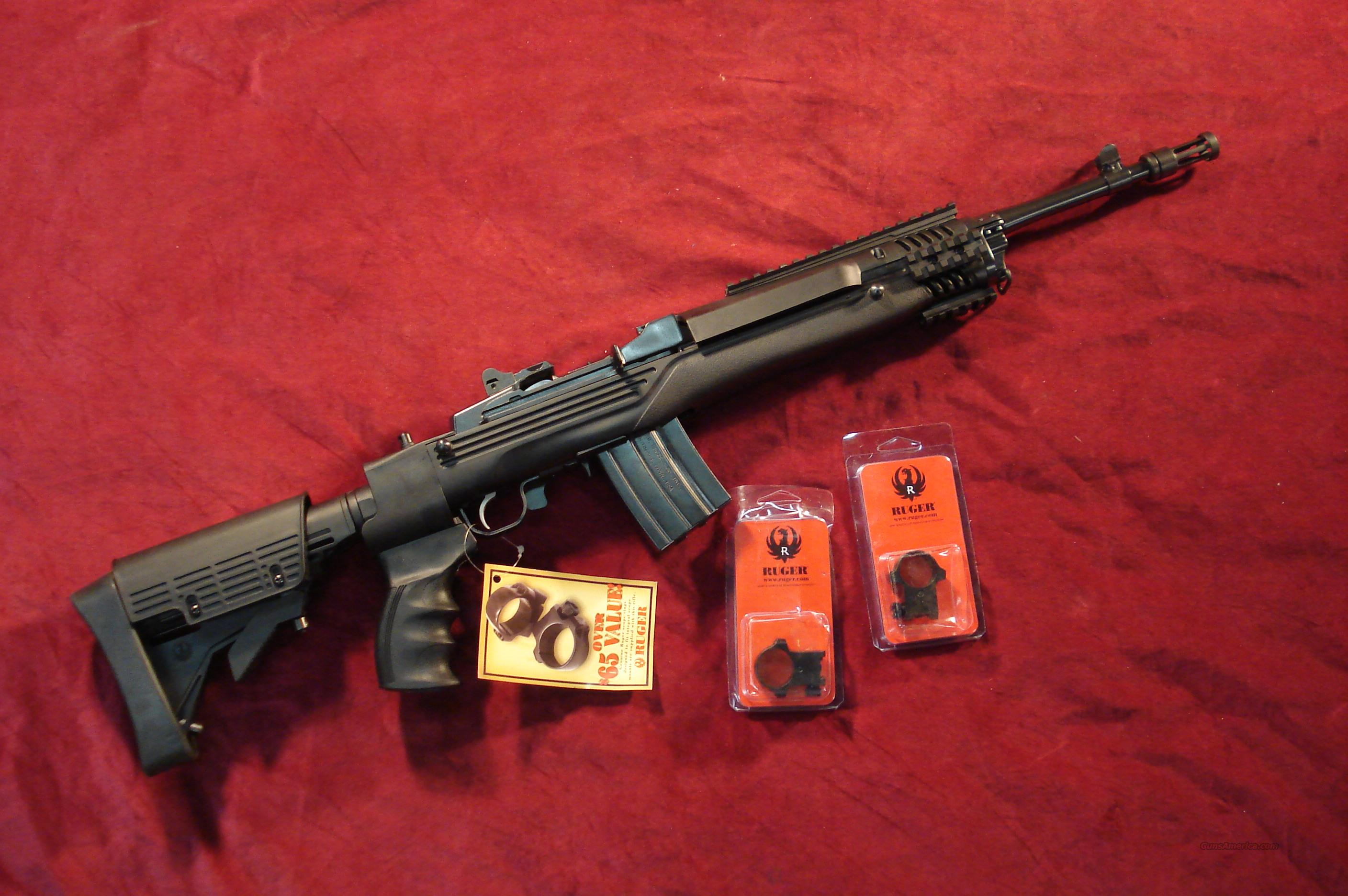 RUGER MINI 14 TACTICAL 223CAL. NEW (M-14/20CF)  Guns > Rifles > Ruger Rifles > Mini-14 Type