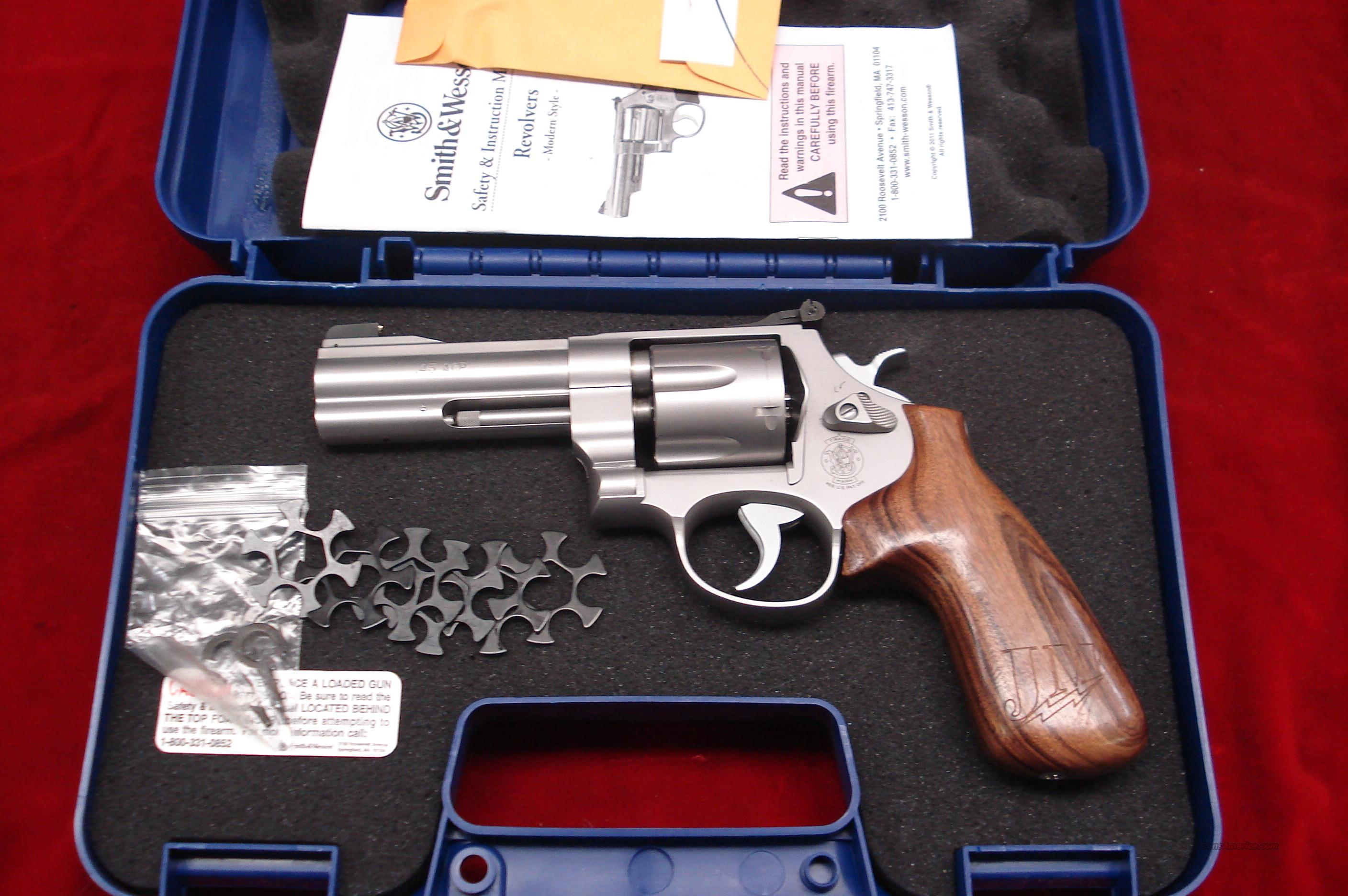 "SMITH AND WESSON MODEL625JM ""Jerry Miculek"" Professional (JMP) Series STAINLESS 45ACP LNIB  Guns > Pistols > Smith & Wesson Revolvers > Full Frame Revolver"