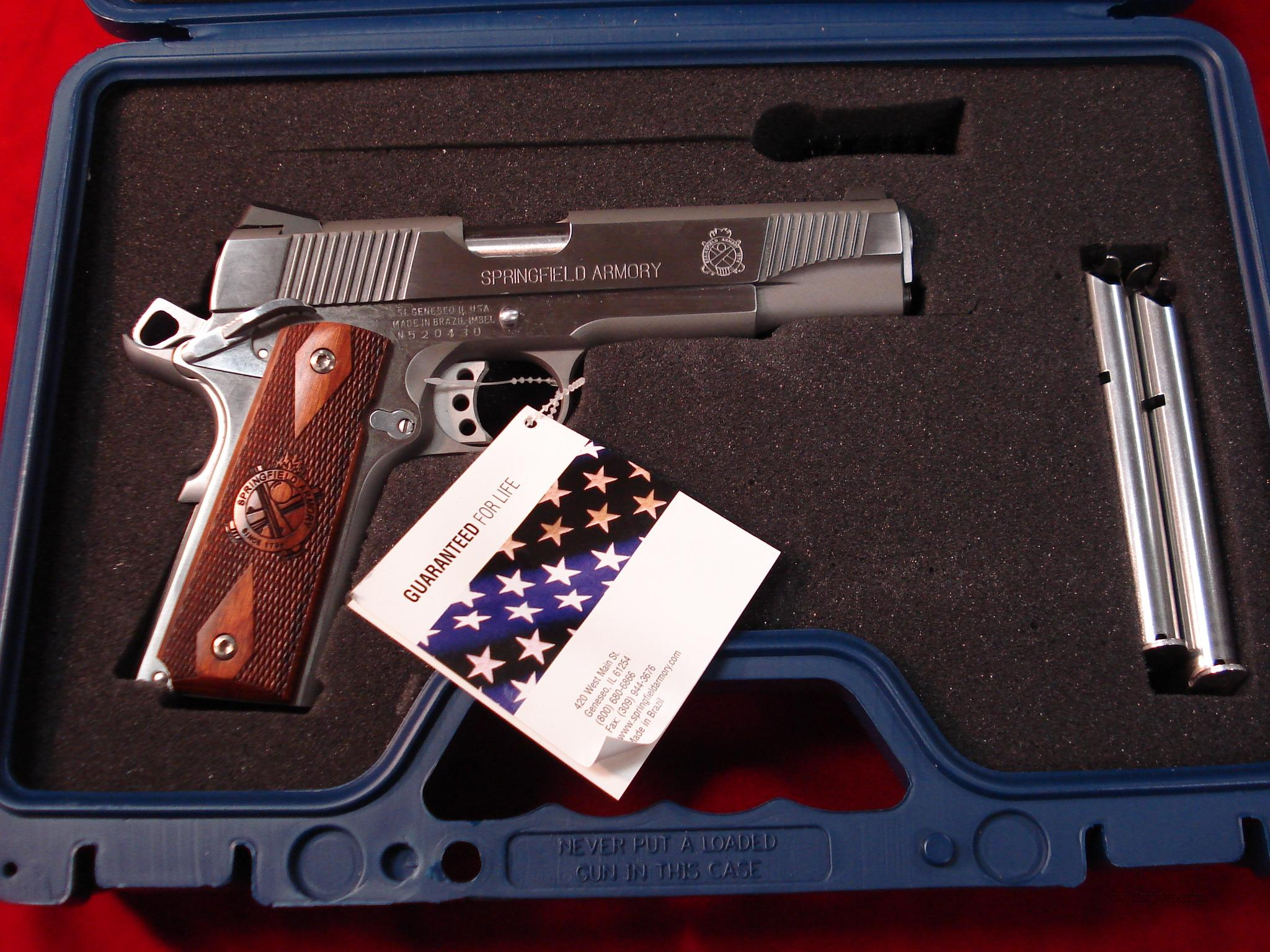 SPRINGFIELD ARMORY STAINLESS 1911 A1 LOADED NEW (PX9151LP)  Guns > Pistols > Springfield Armory Pistols > 1911 Type