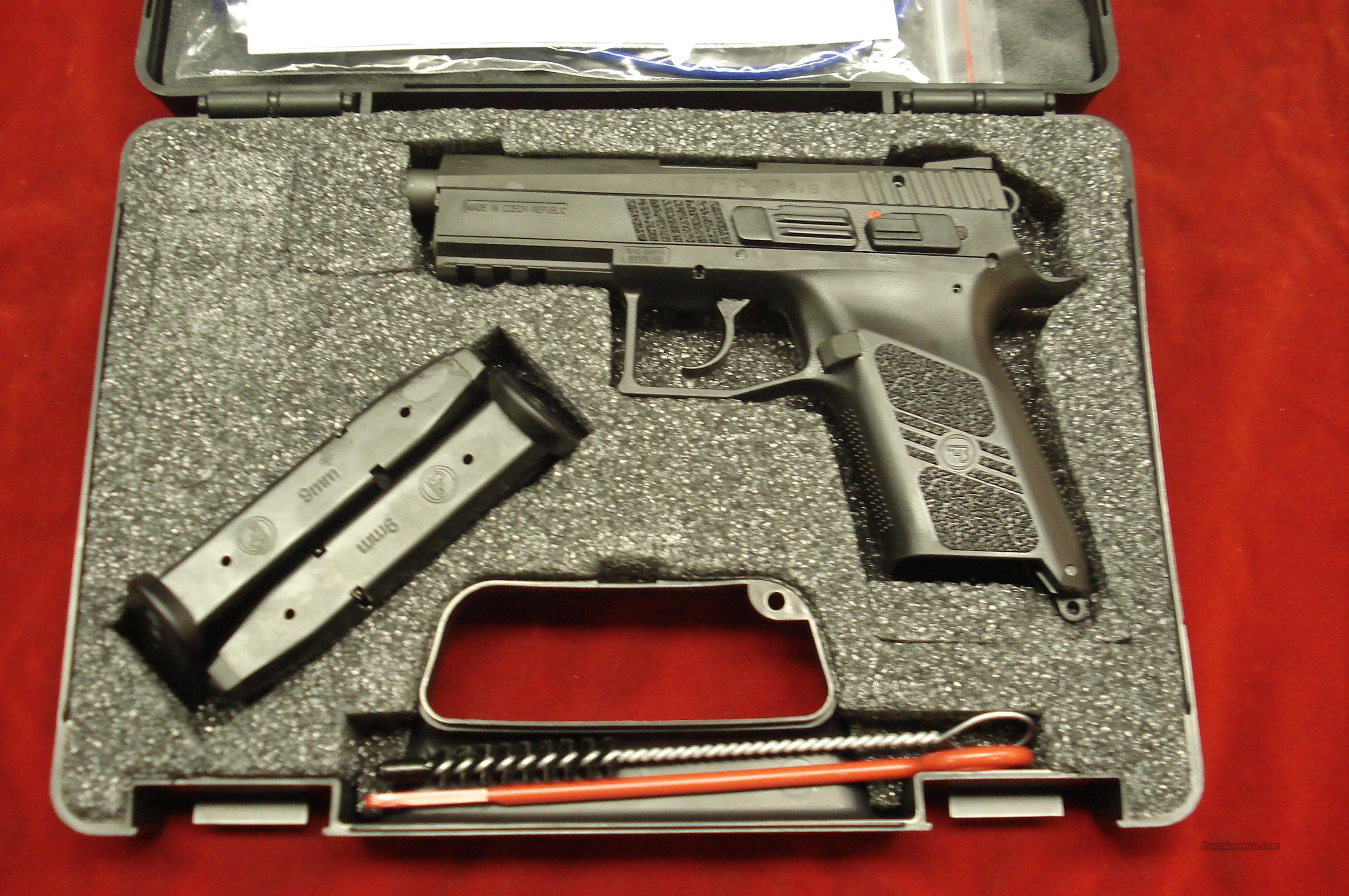 CZ 75 P-07 DUTY 9MM CAL. WITH TRIJICON HIGHT SIGHTS NEW  Guns > Pistols > CZ Pistols