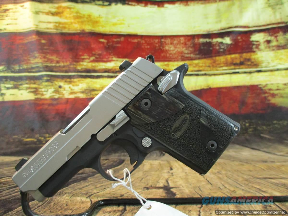 "Sig Sauer 9MM P938 Blackwood Grips 3"" New (938-9-BG-AMBI)  Guns > Pistols > Sig - Sauer/Sigarms Pistols > P938"