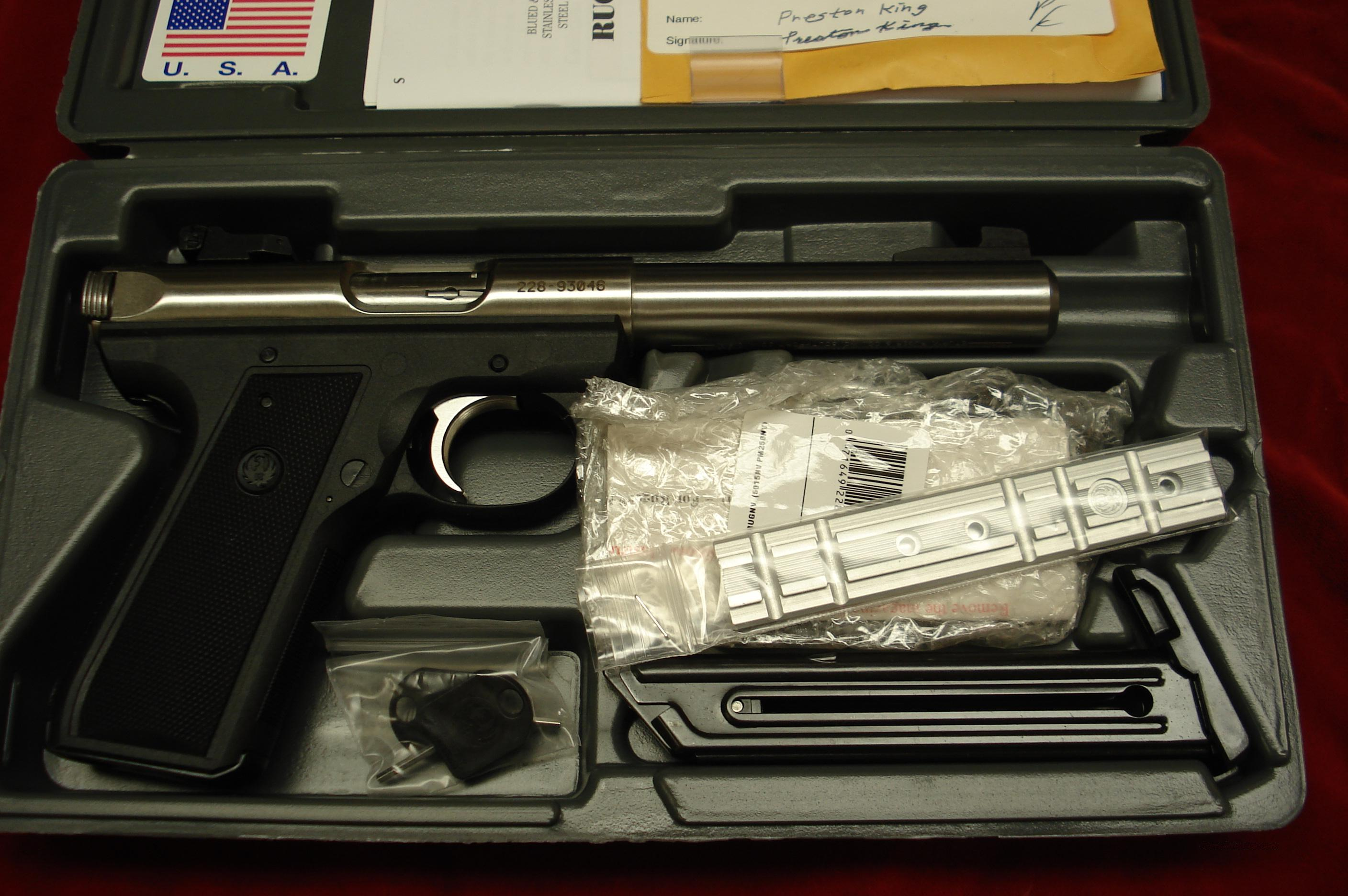 "RUGER 22/45 MKIII STAINLESS 5.5"" BULL NEW (KP512MKIII)  Guns > Pistols > Ruger Semi-Auto Pistols > Mark I & II Family"