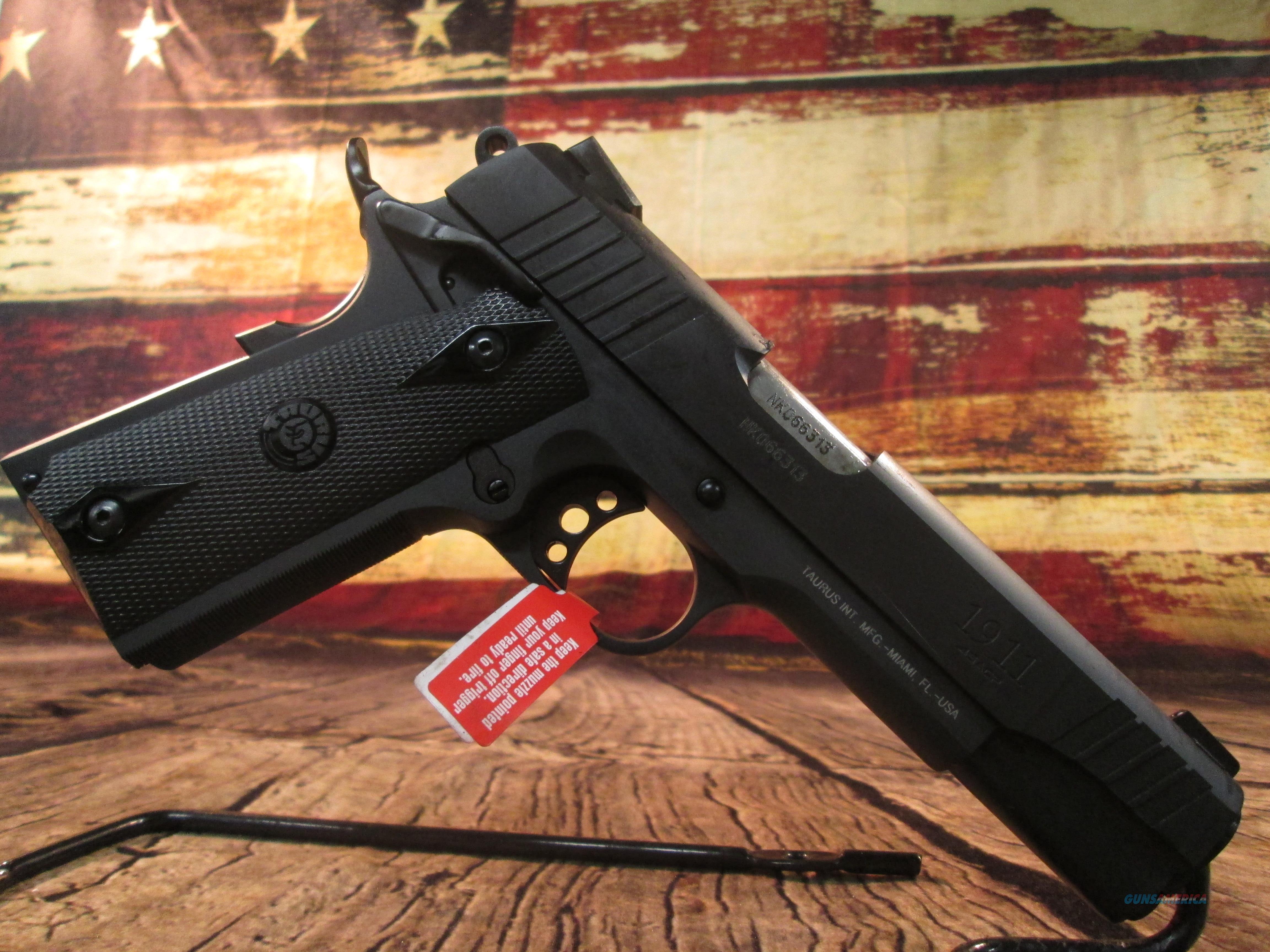 TAURUS 1911 STANDARD .45 ACP W/ HEINIE SIGHT NEW (1-191101FS)  Guns > Pistols > Taurus Pistols > Semi Auto Pistols > Steel Frame