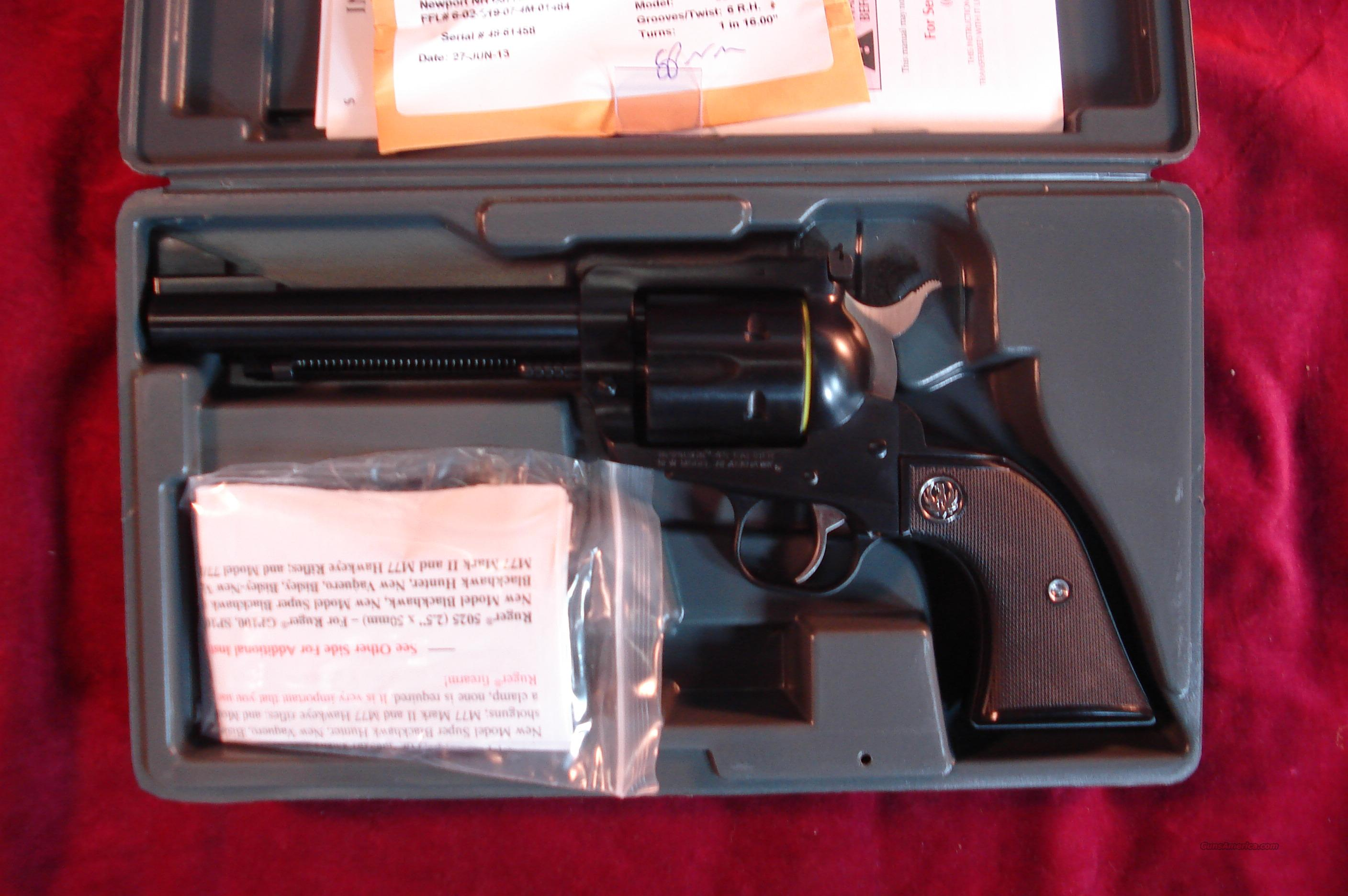 "RUGER BLACKHAWK 45COLT 5.5"" BLUE NEW (BN-455)  Guns > Pistols > Ruger Single Action Revolvers > Blackhawk Type"