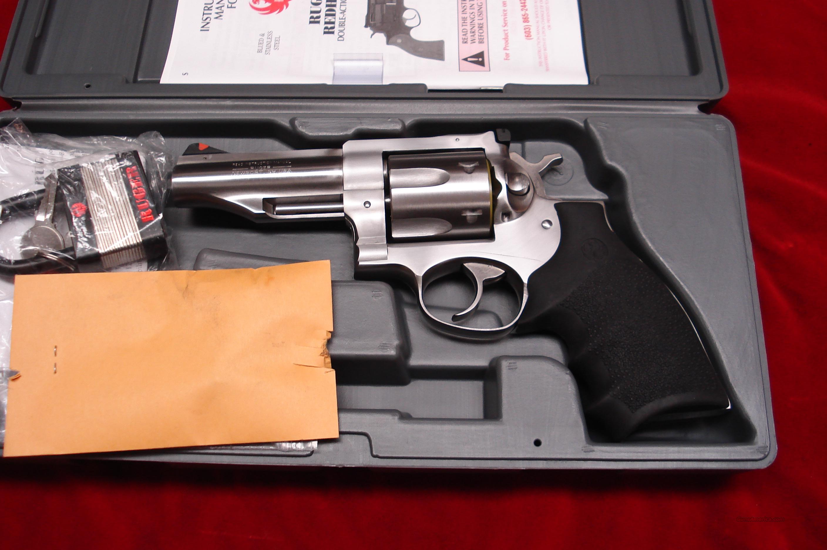 "RUGER NEW MODEL REDHAWK .45COLT 4"" STAINLESS NEW (KRH-45-4)  Guns > Pistols > Ruger Double Action Revolver > Redhawk Type"