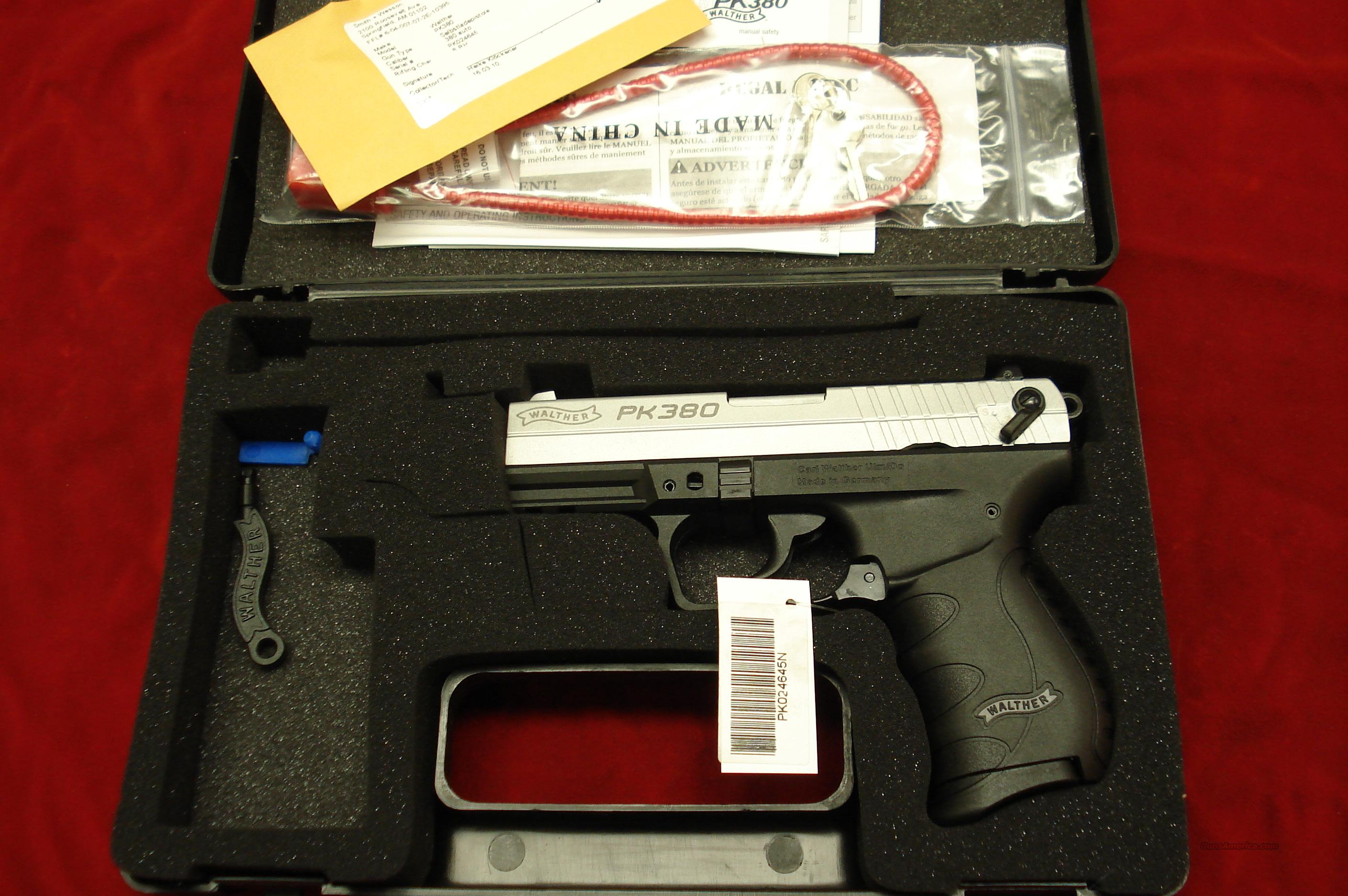 WALTHER PK380 NICKEL NEW  Guns > Pistols > Walther Pistols > Post WWII > PP Series