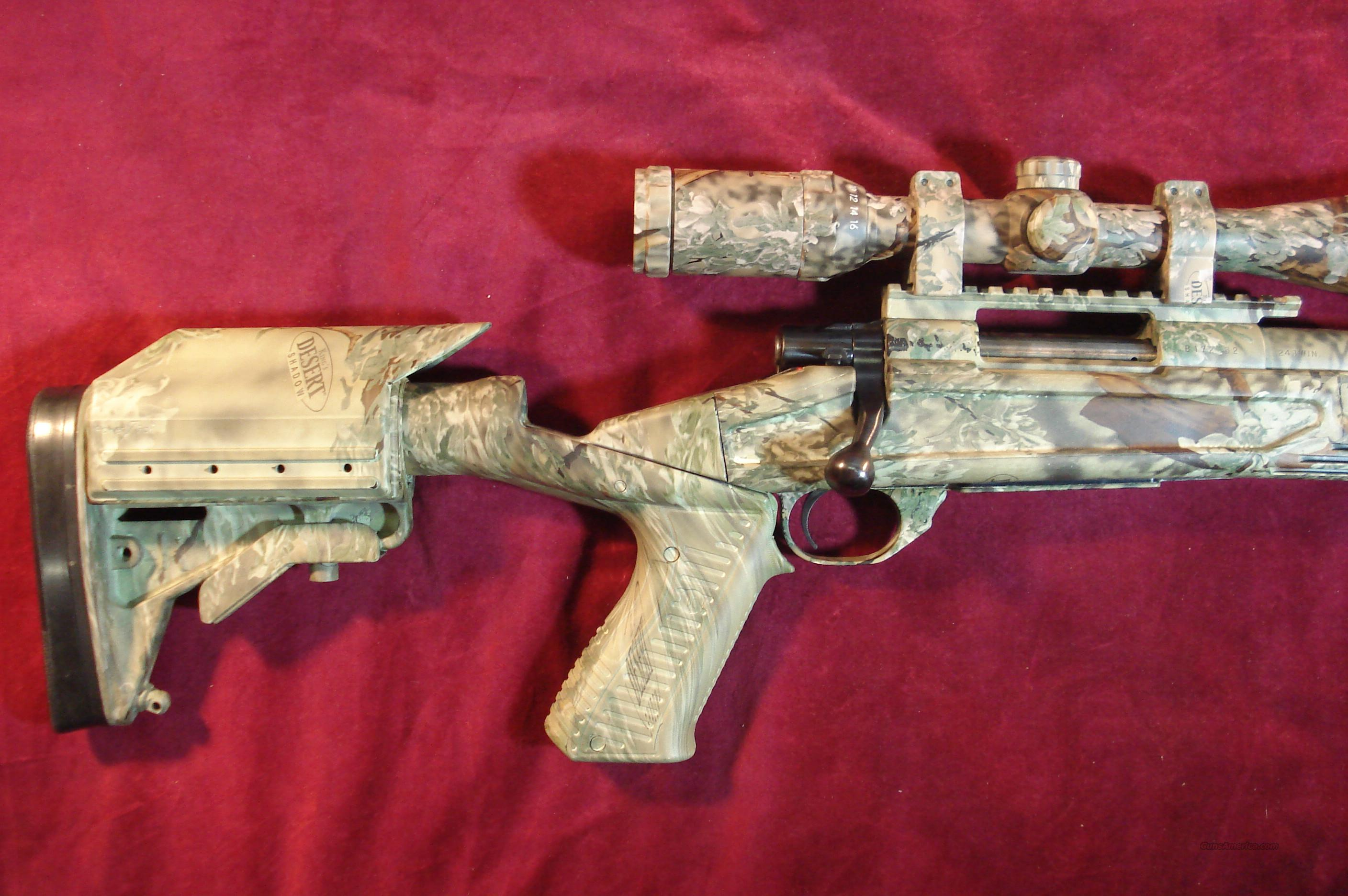 HOWA 1500 DESERT CAMO 243CAL W/4X16 NIKKO STERLING SCOPE USED   Guns > Rifles > Howa Rifles