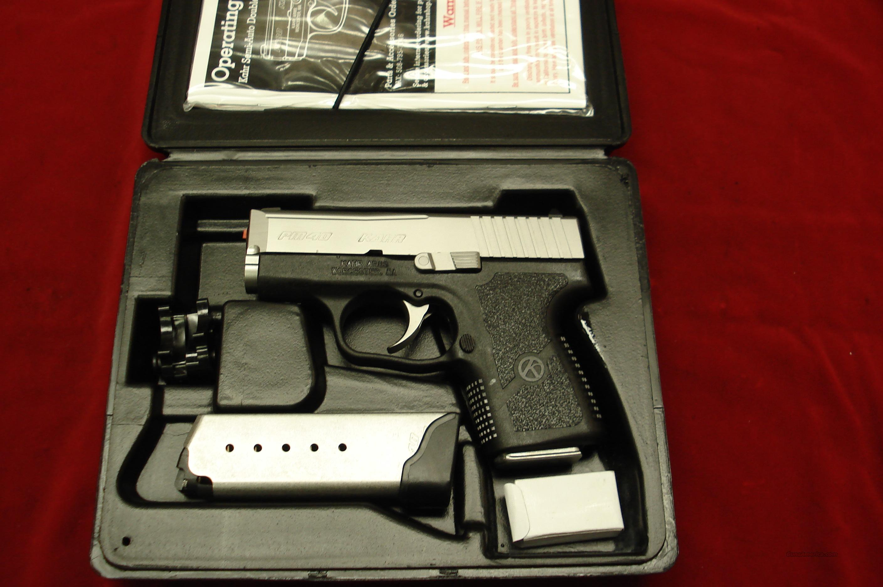 KAHR ARMS PM40 40CAL. STAINLESS NEW  Guns > Pistols > Kahr Pistols