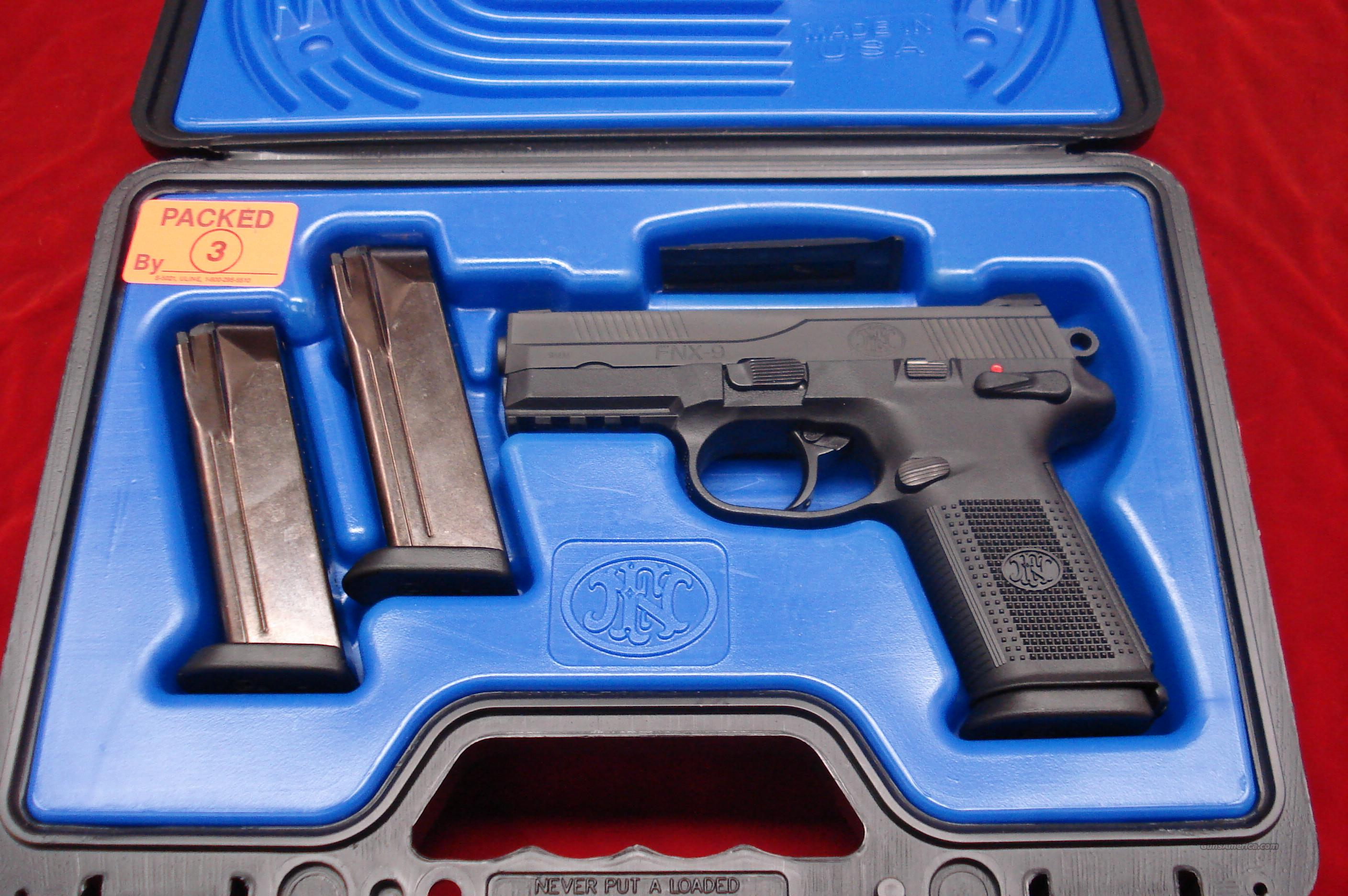 FN FNX-9 9MM WITH 3 HIGH CAPACITY MAGAZINES LNIB  Guns > Pistols > FNH - Fabrique Nationale (FN) Pistols > FNP