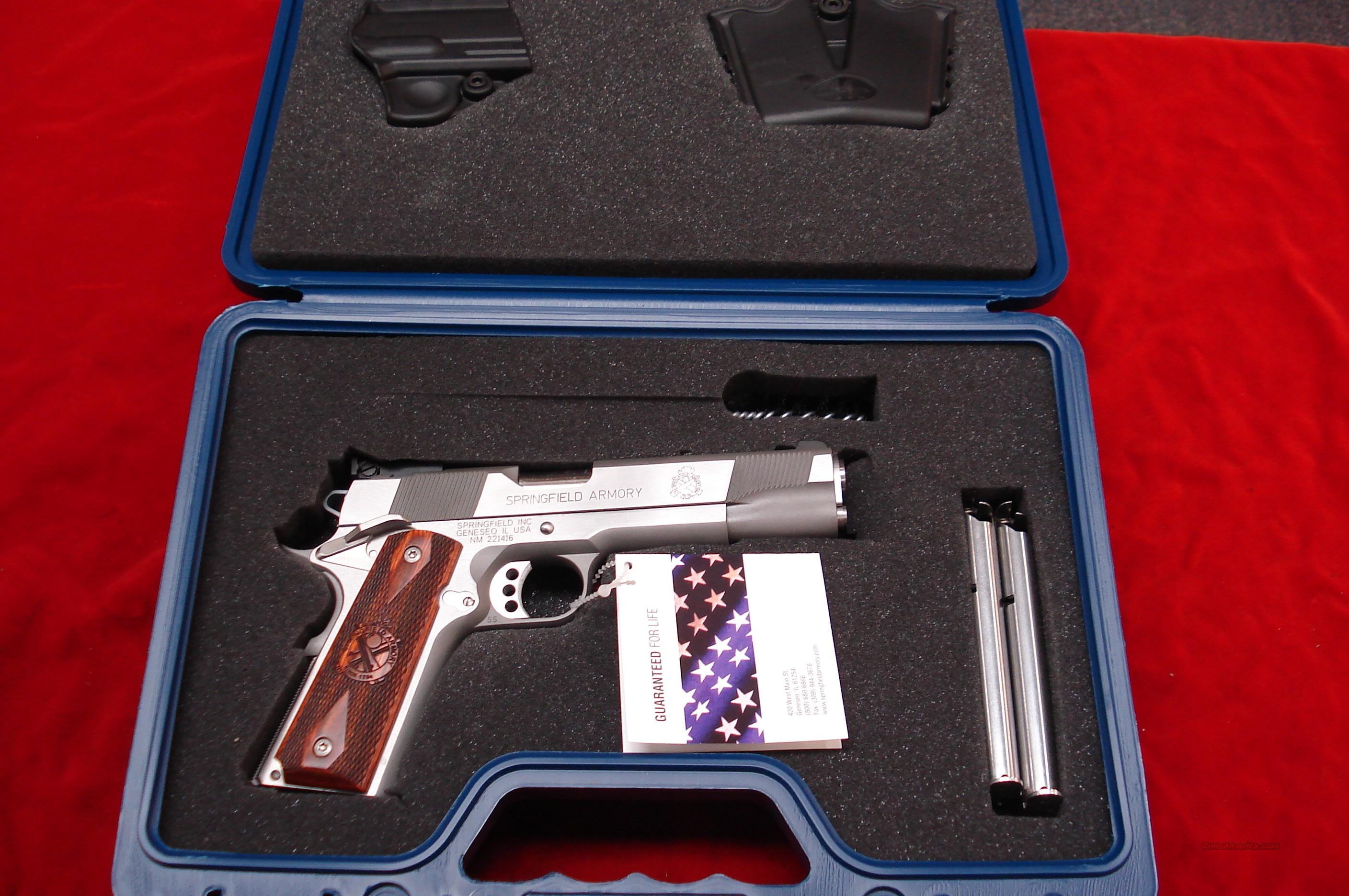 SPRINGFIELD ARMORY STAINLESS LOADED TARGET (PI9132LP)  NEW IN THE BOX  Guns > Pistols > Springfield Armory Pistols > 1911 Type